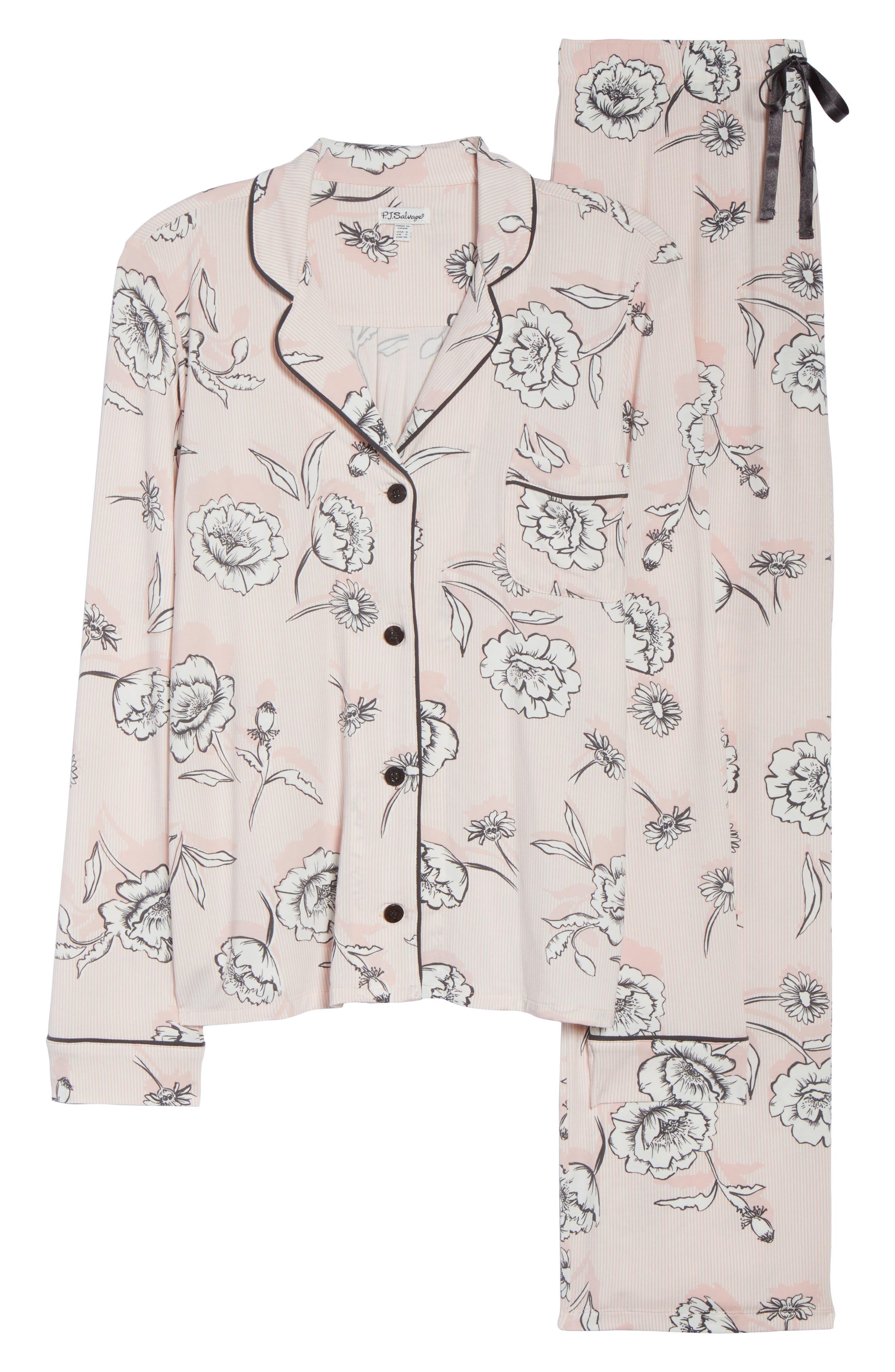 Shadow Floral Pajamas,                             Alternate thumbnail 6, color,                             650