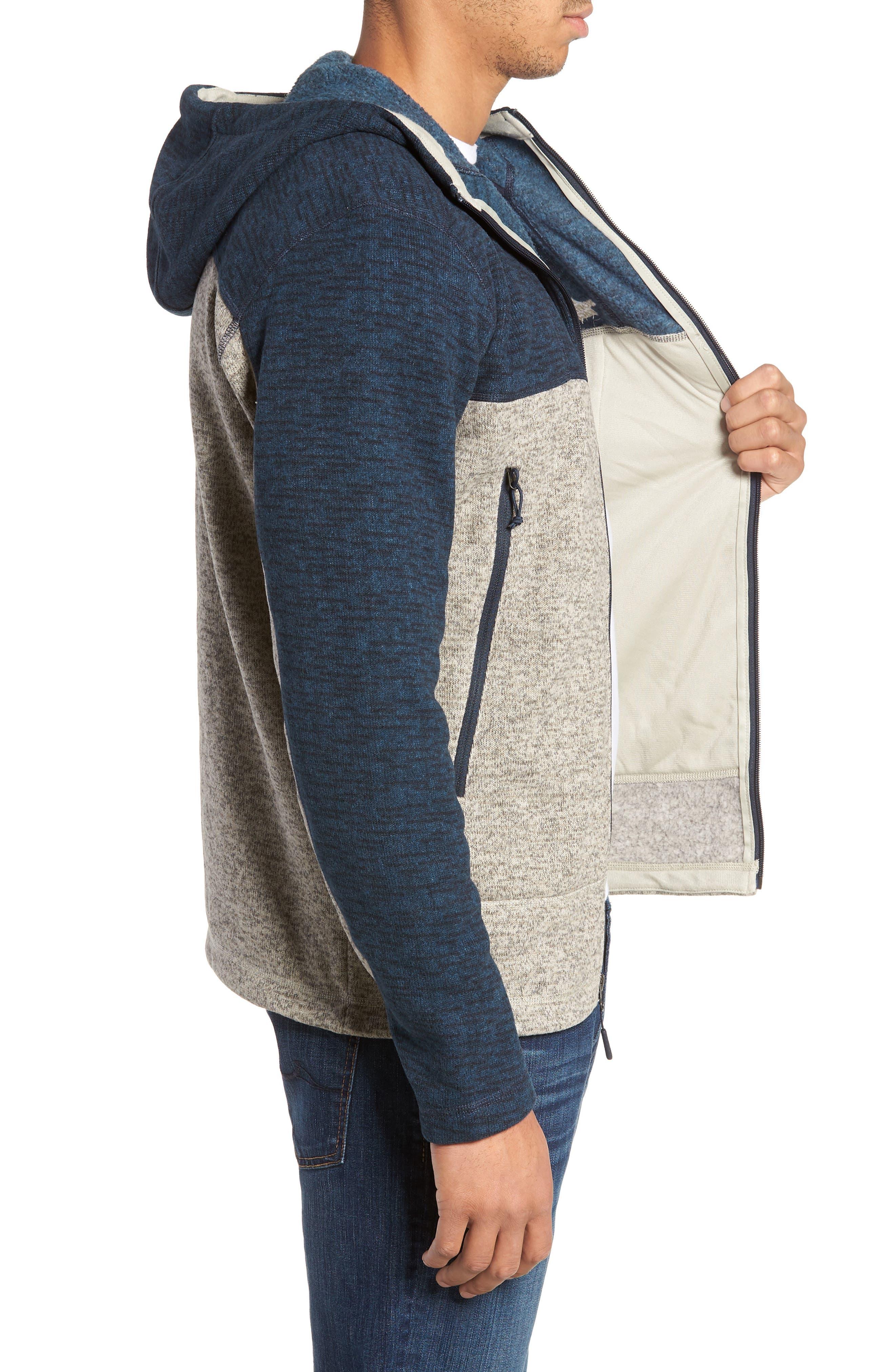 Gordon Lyons Alpine Sweater Fleece Hoodie,                             Alternate thumbnail 3, color,                             URBAN NAVY/ GRANITE BLUFF TAN