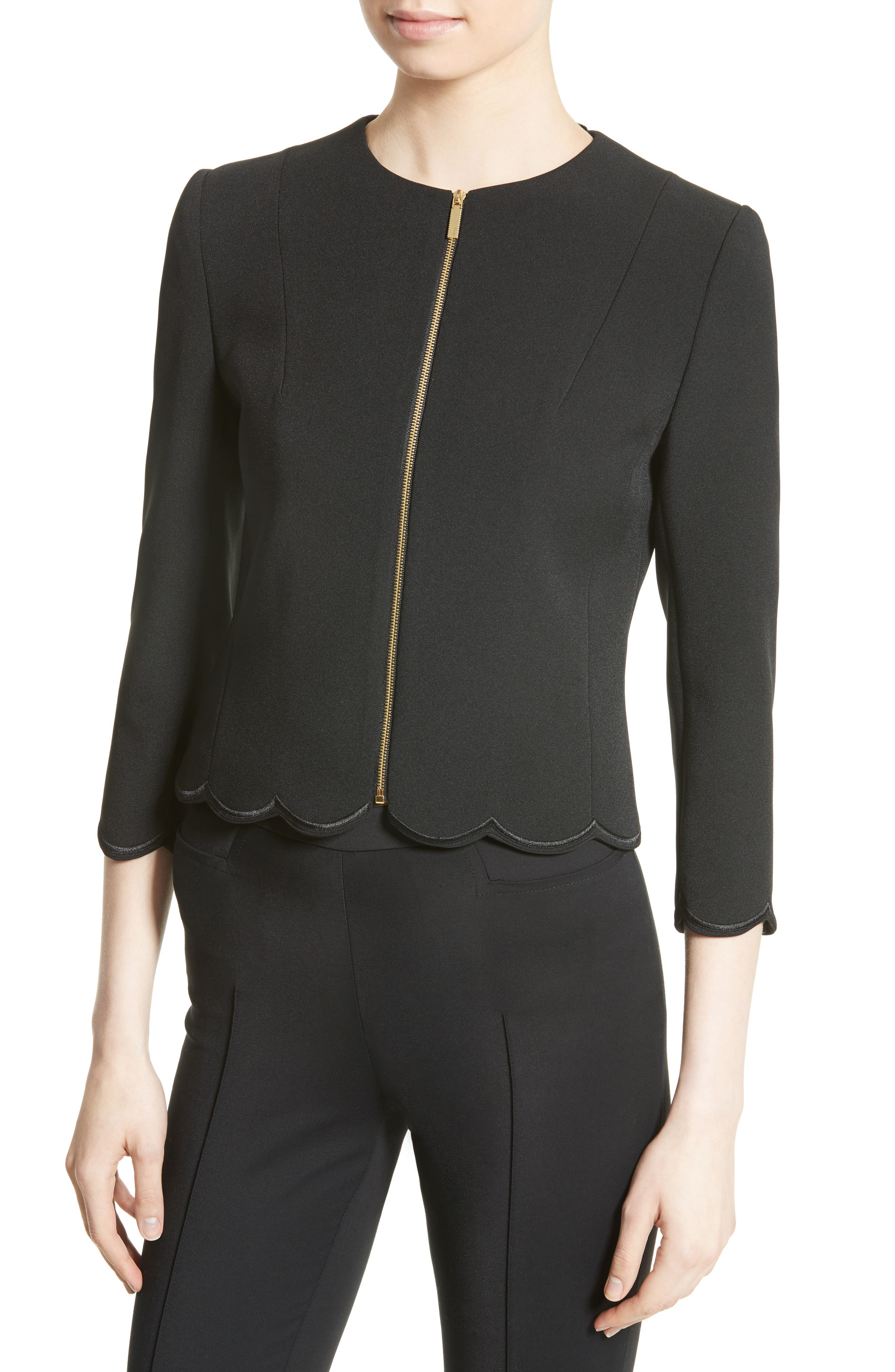 Heraly Crop Jacket,                             Alternate thumbnail 4, color,                             001