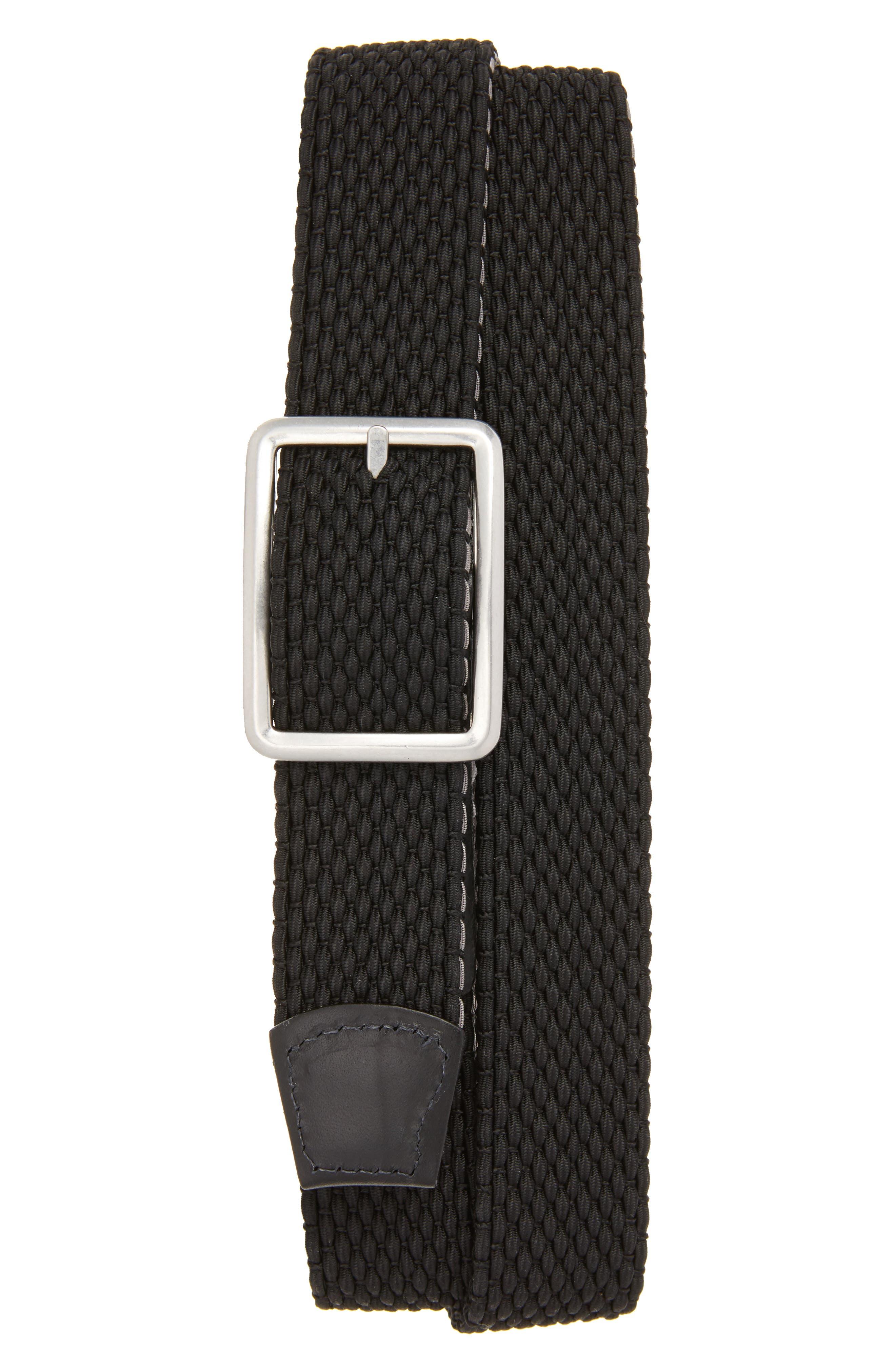 Tri Stripe Reversible Woven Belt,                             Alternate thumbnail 2, color,                             GREY/ NICKLE/ BLACK
