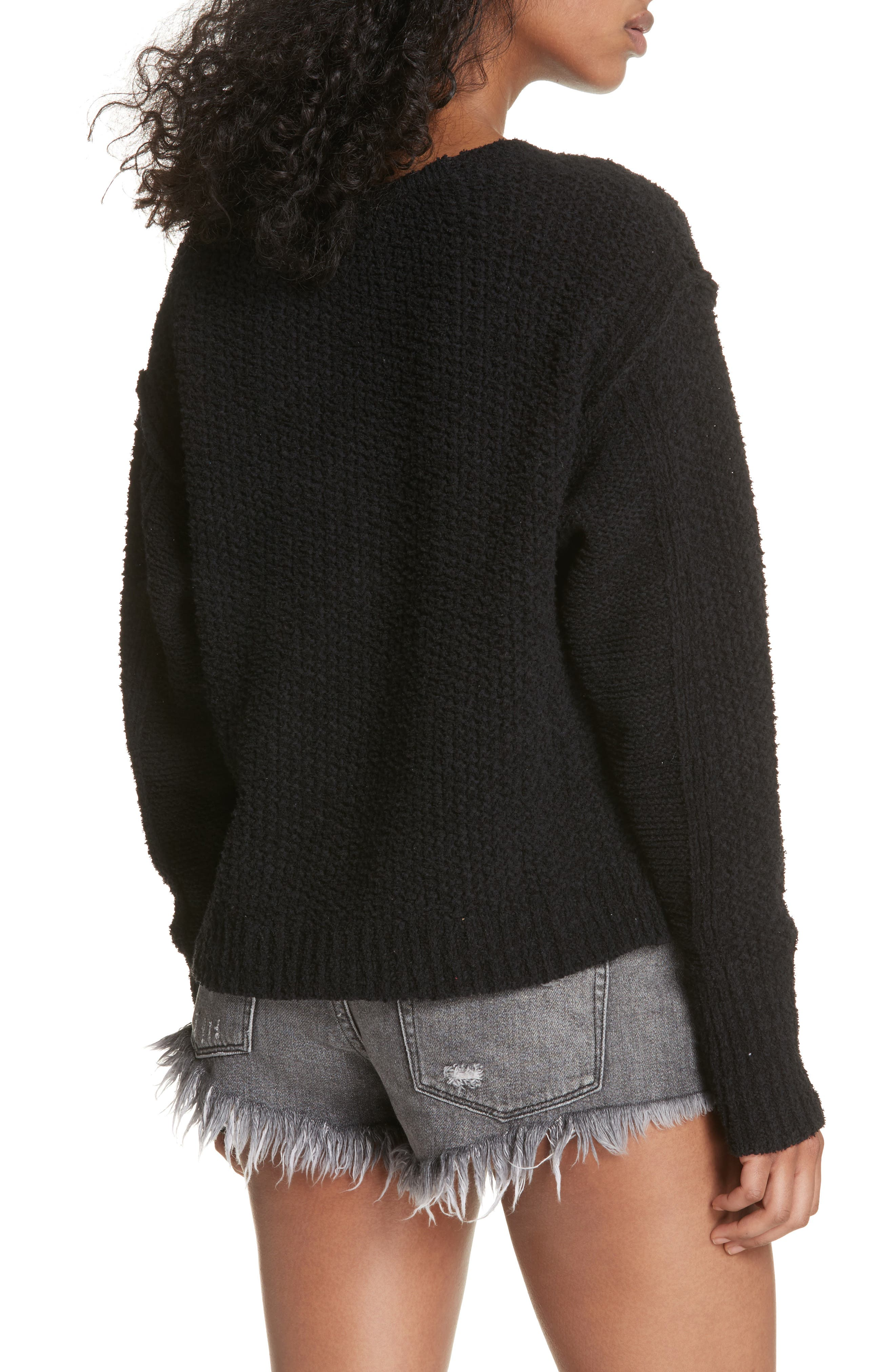 Coco V-Neck Sweater,                             Alternate thumbnail 2, color,                             001