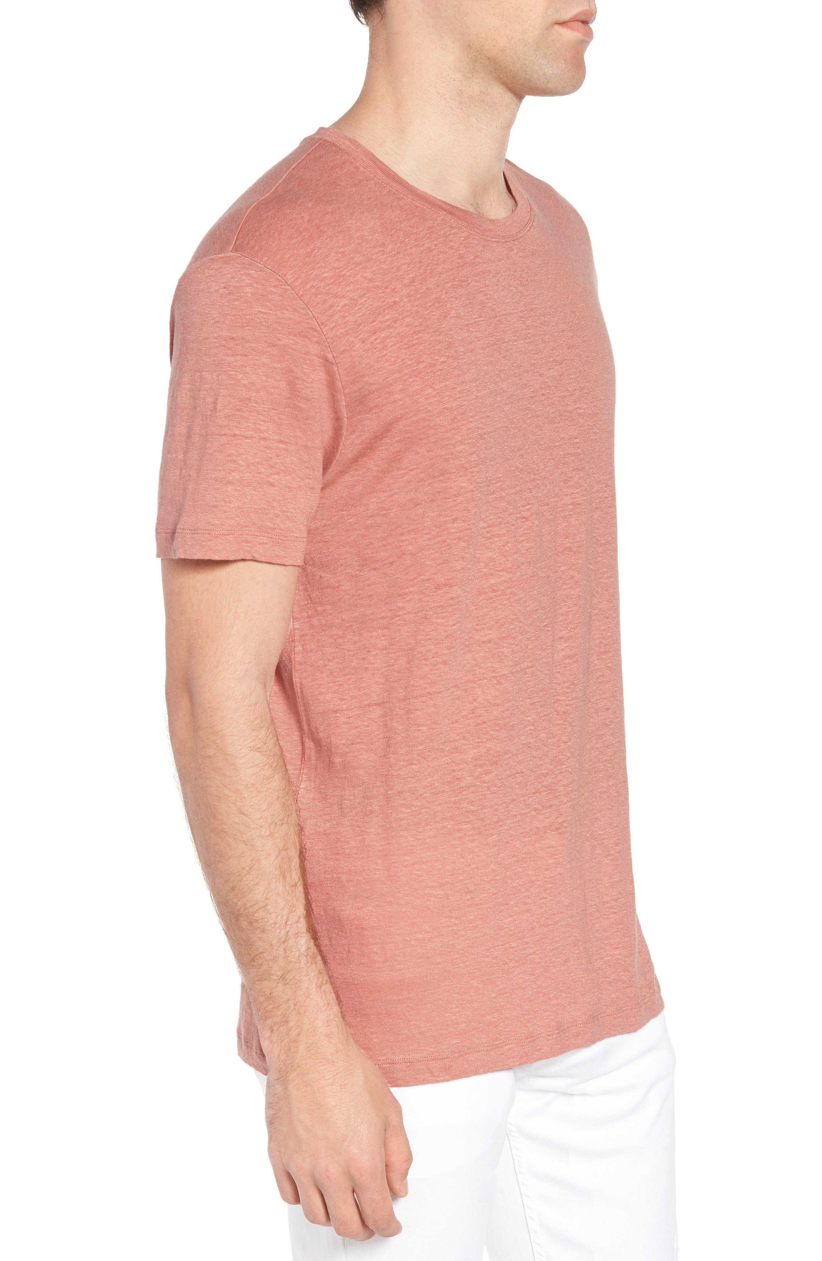 Hugo Boss Tiburt Linen T-Shirt,                             Alternate thumbnail 3, color,                             631