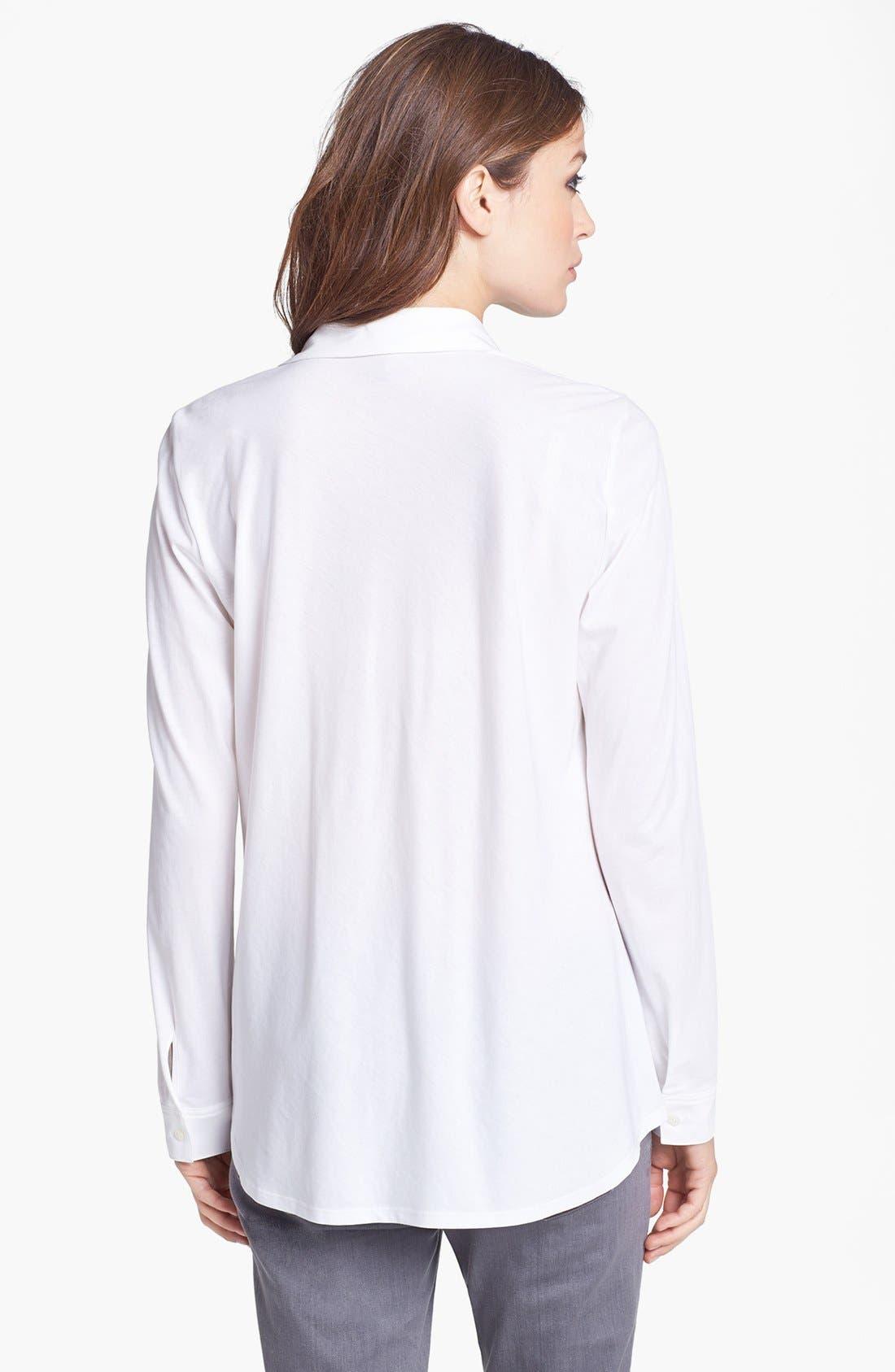 Classic Collar Organic Cotton Shirt,                             Alternate thumbnail 2, color,                             100