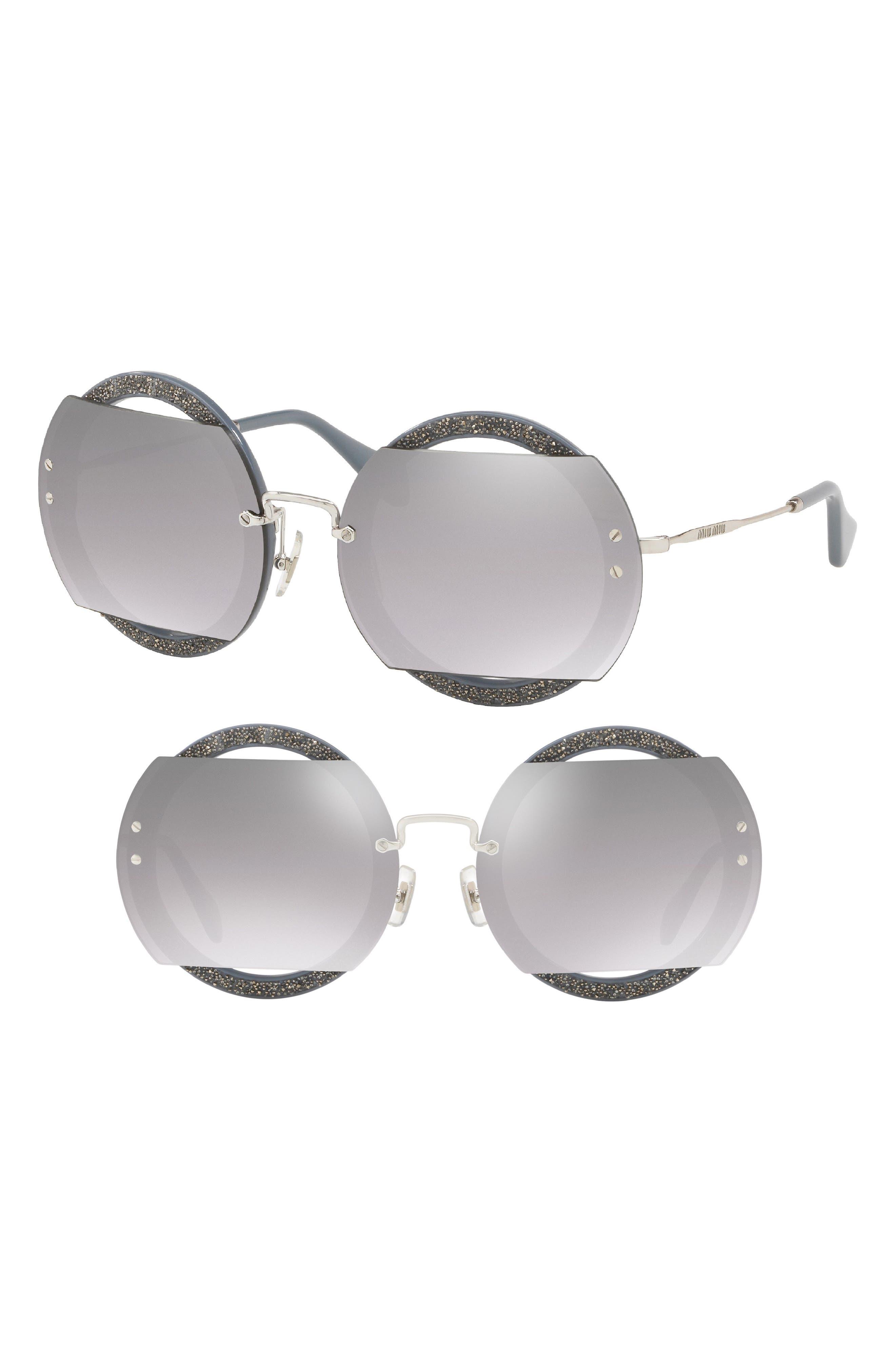 63mm Round Sunglasses,                             Main thumbnail 2, color,