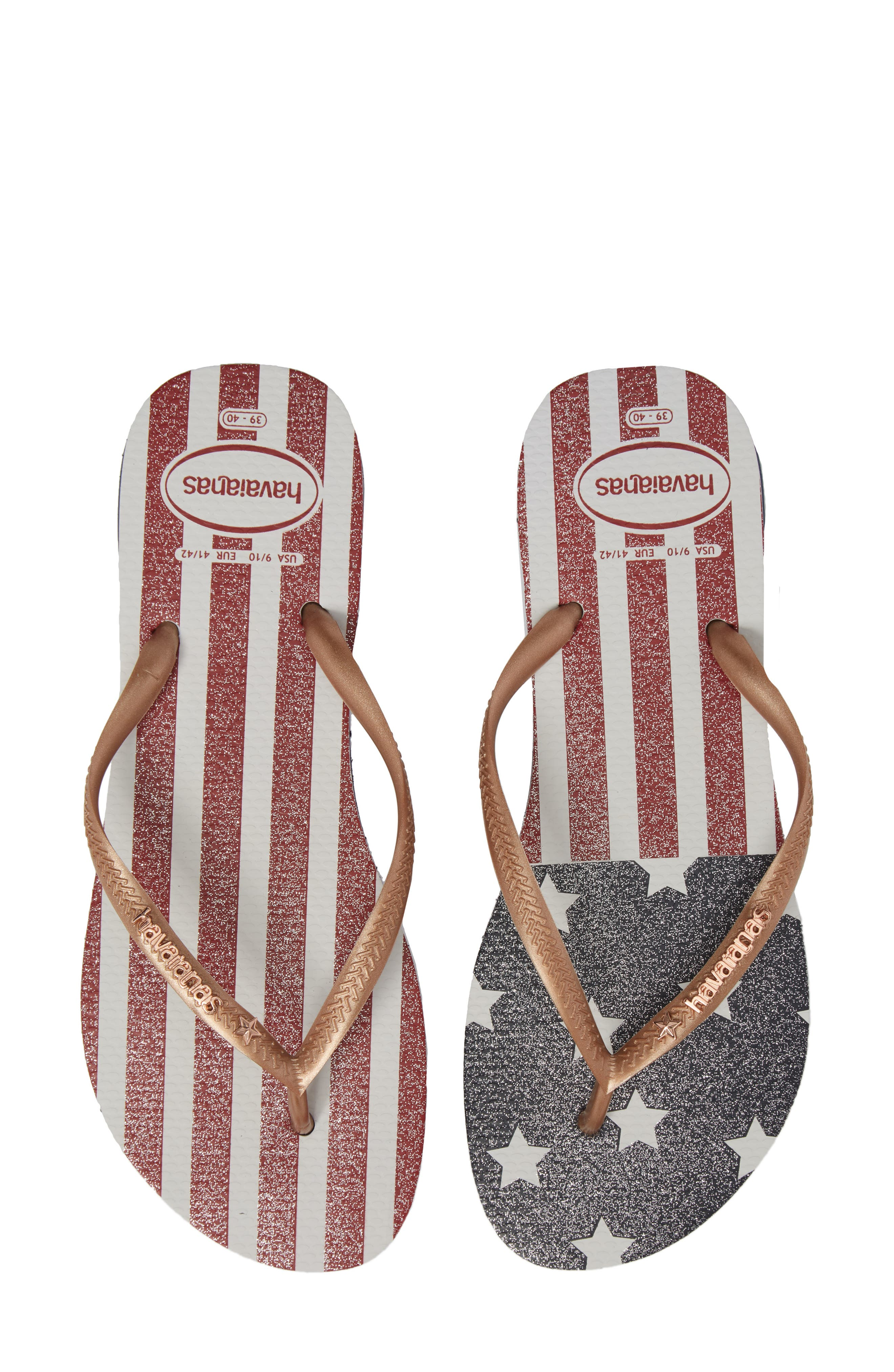 HAVAIANAS,                             USA Slim Flip Flop,                             Alternate thumbnail 5, color,                             403