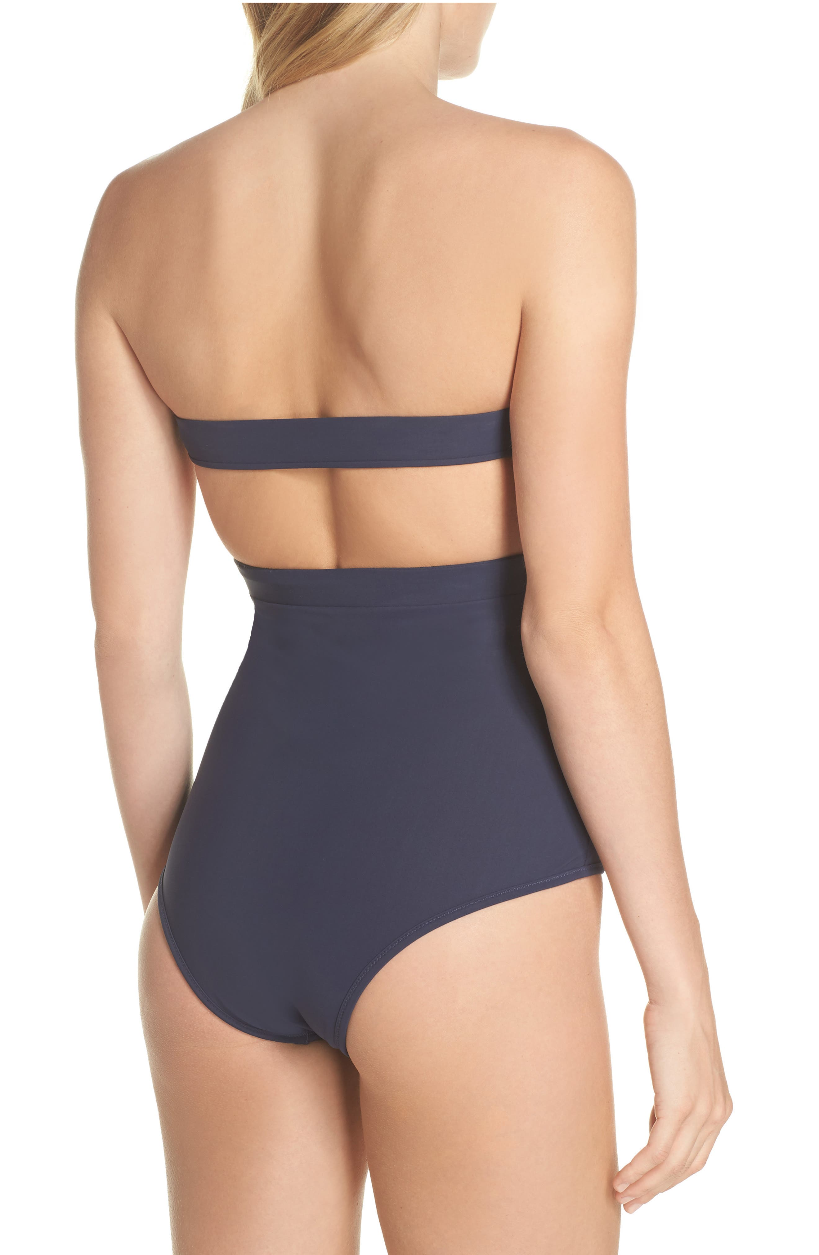 BB Reversible One-Piece Swimsuit,                             Alternate thumbnail 3, color,                             WHITE/ NAVY
