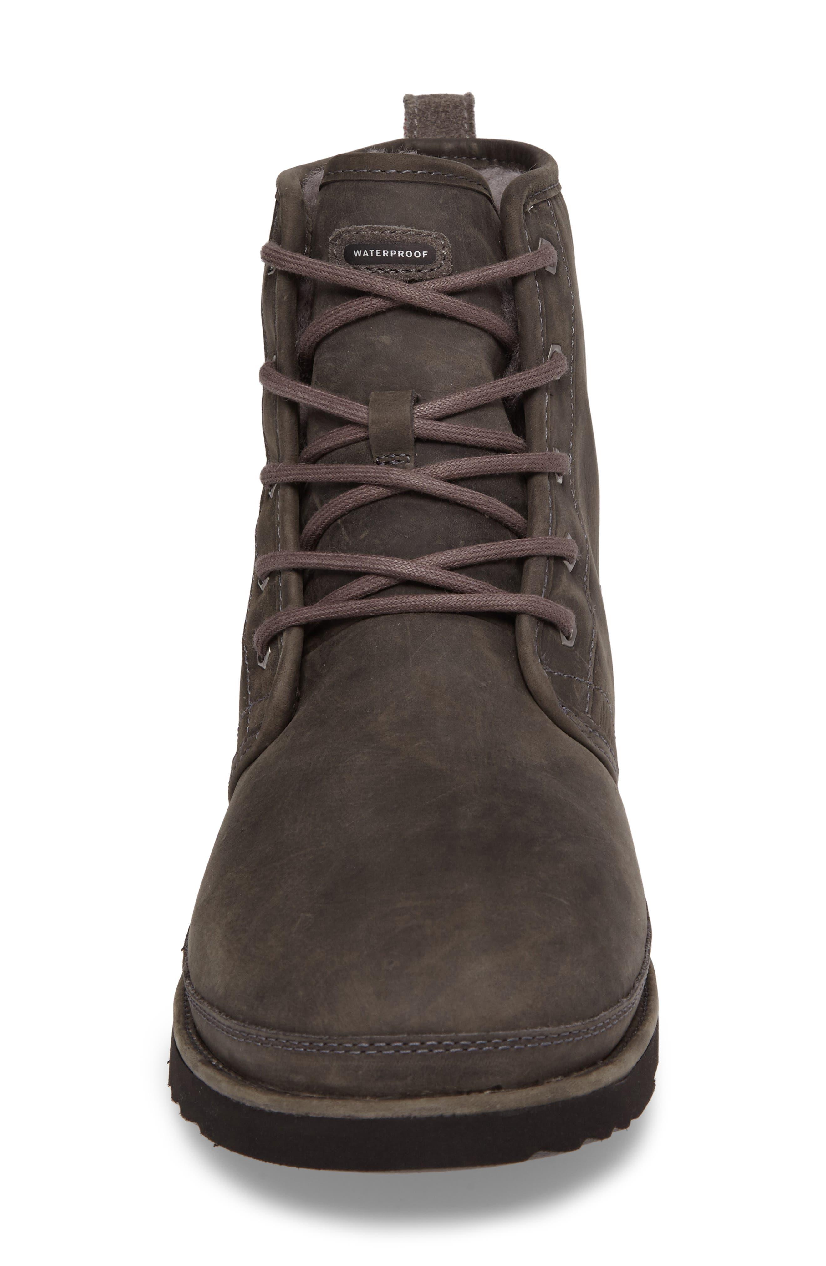 Harkley Plain Toe Boot,                             Alternate thumbnail 4, color,                             CHARCOAL