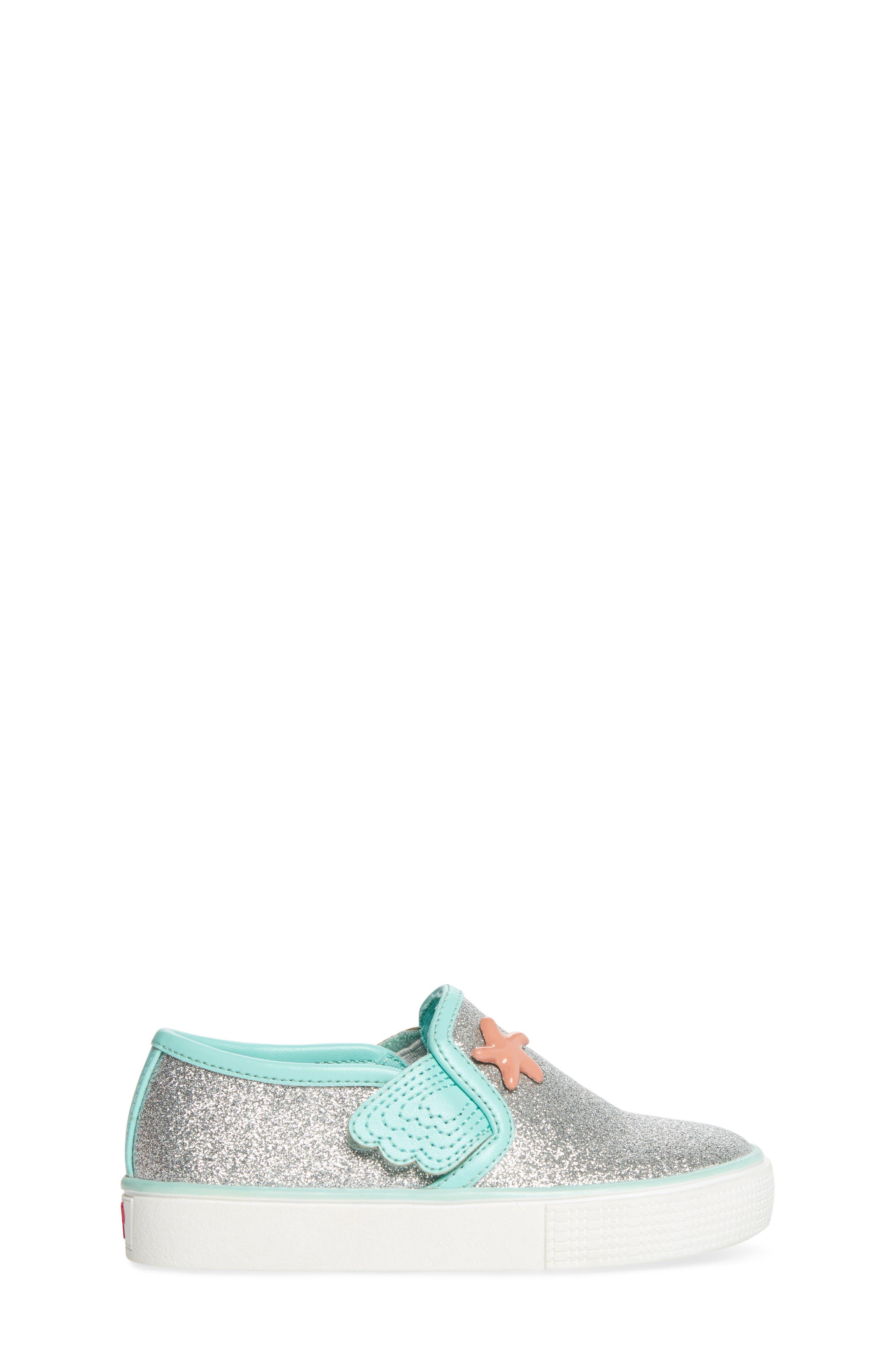 Camille Glitter Slip-On Sneaker,                             Alternate thumbnail 3, color,                             040