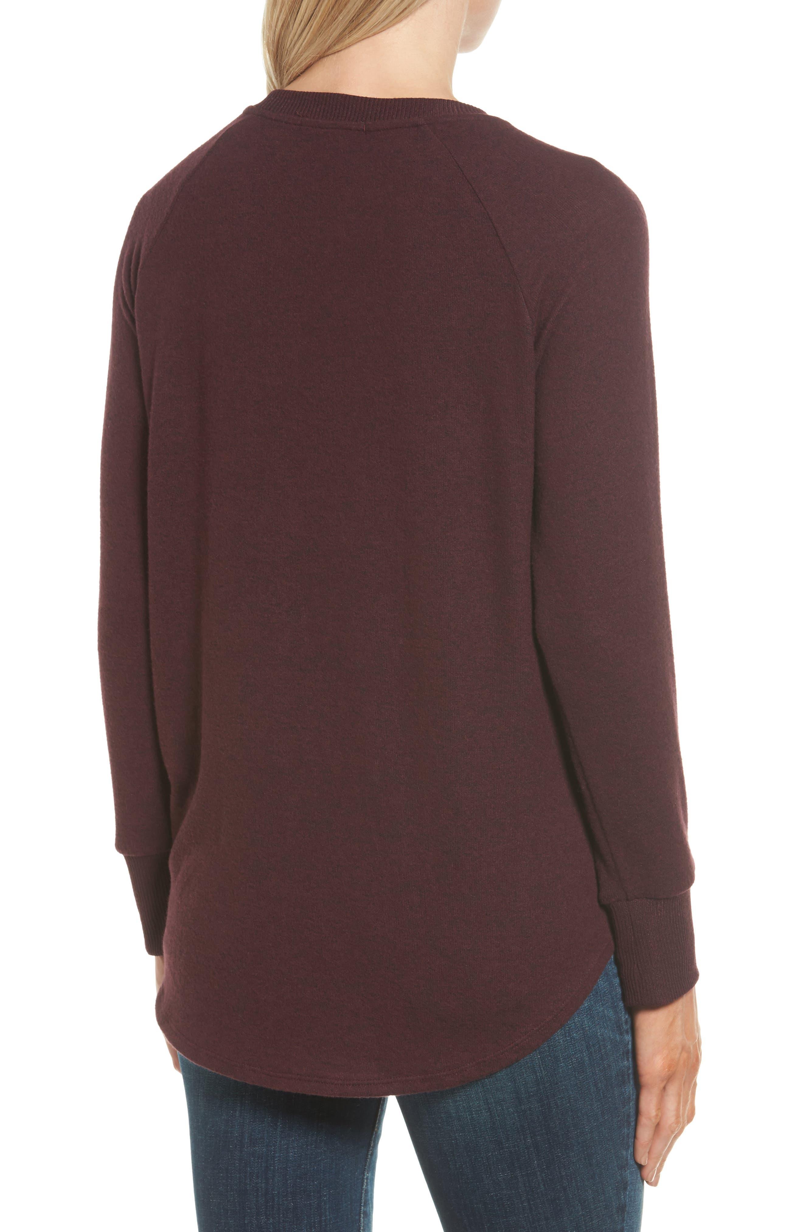 Tie Front Cozy Fleece Pullover,                             Alternate thumbnail 18, color,