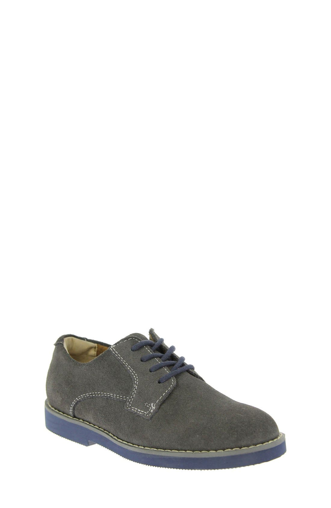 Kearny Two Tone Oxford,                         Main,                         color, GREY/ NAVY SOLE