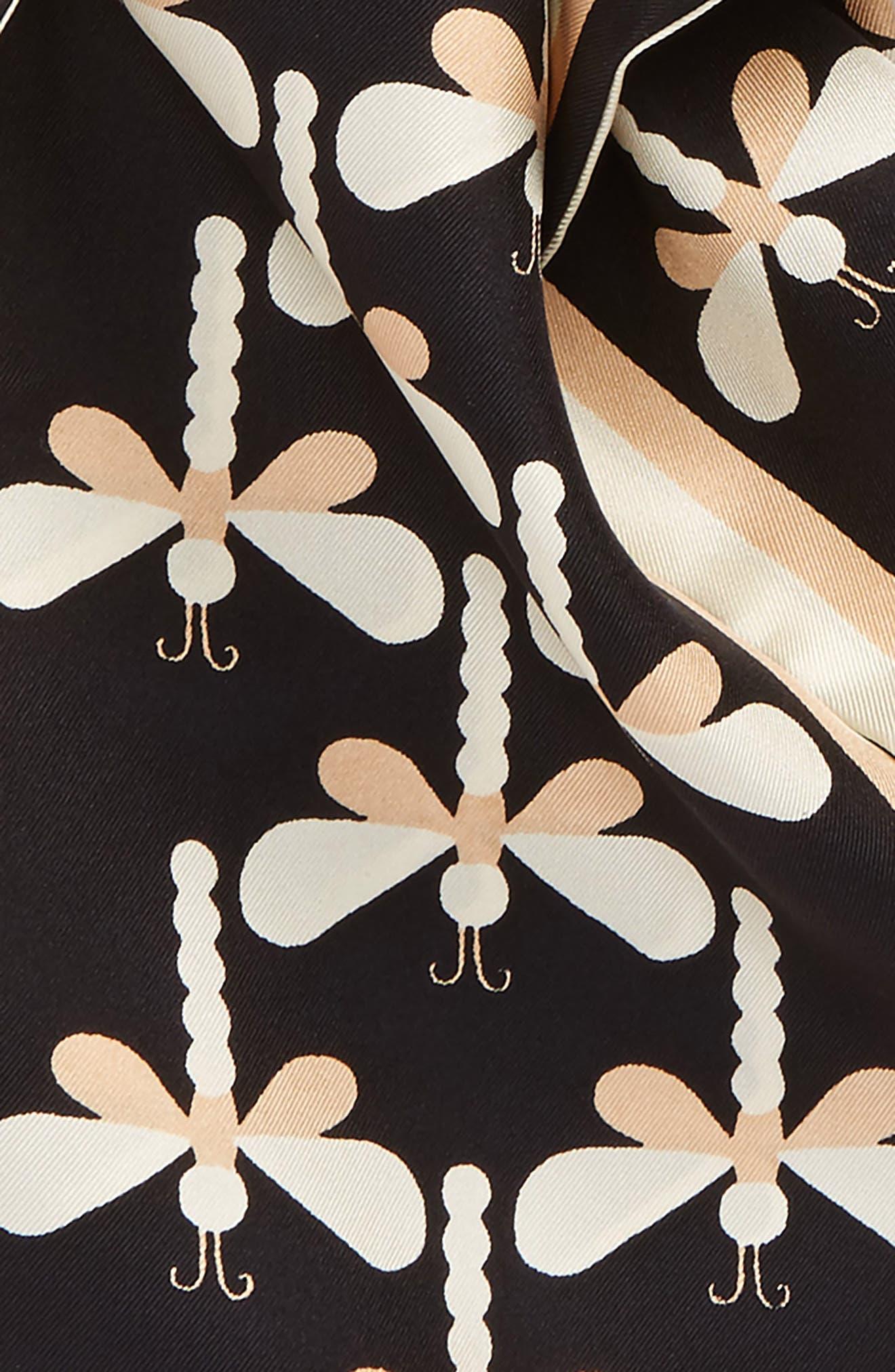 Dragonfly Silk Necktie,                             Alternate thumbnail 5, color,