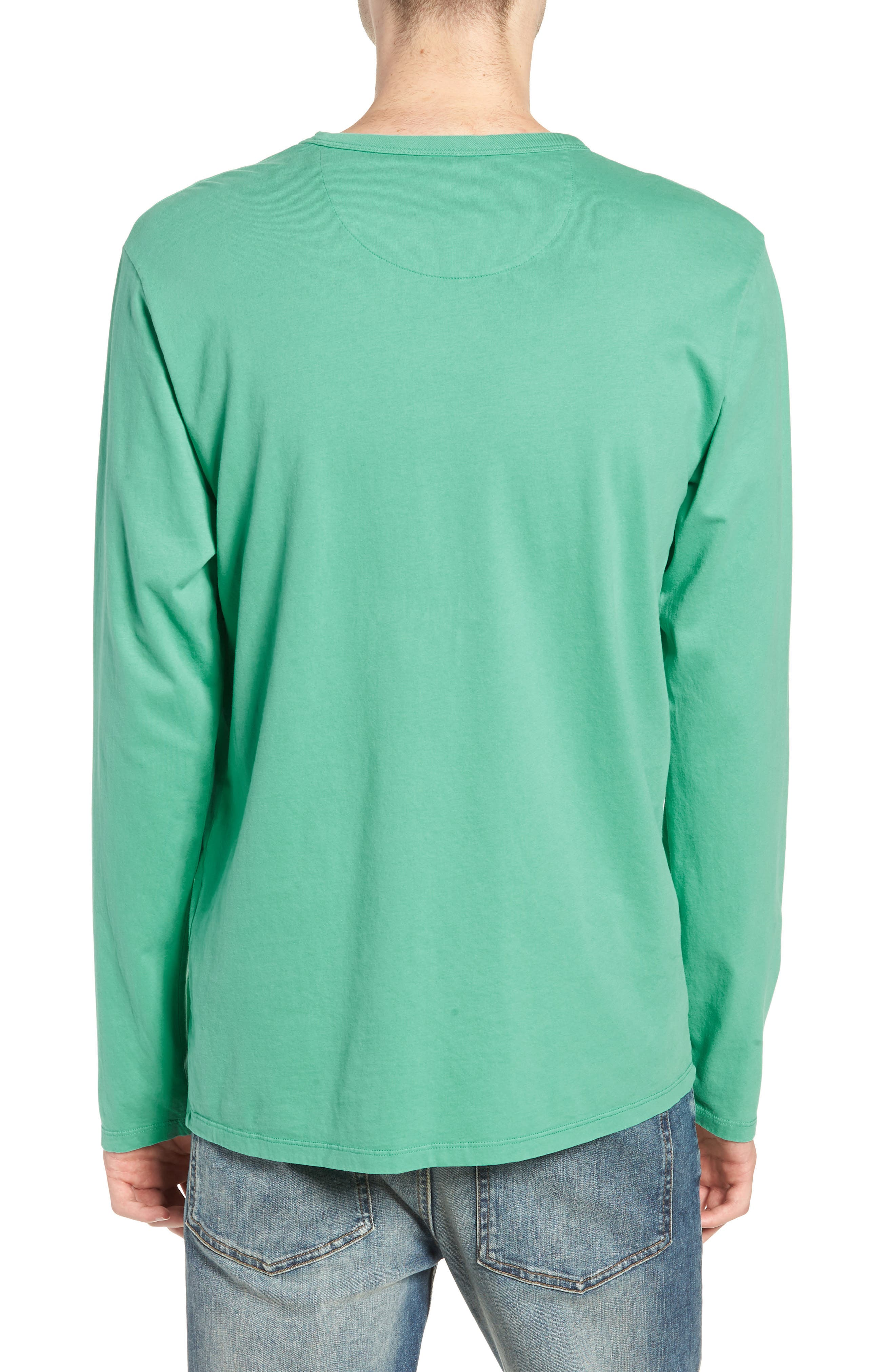 James Pima Long Sleeve Pocket T-Shirt,                             Alternate thumbnail 2, color,                             SEAFOAM GREEN
