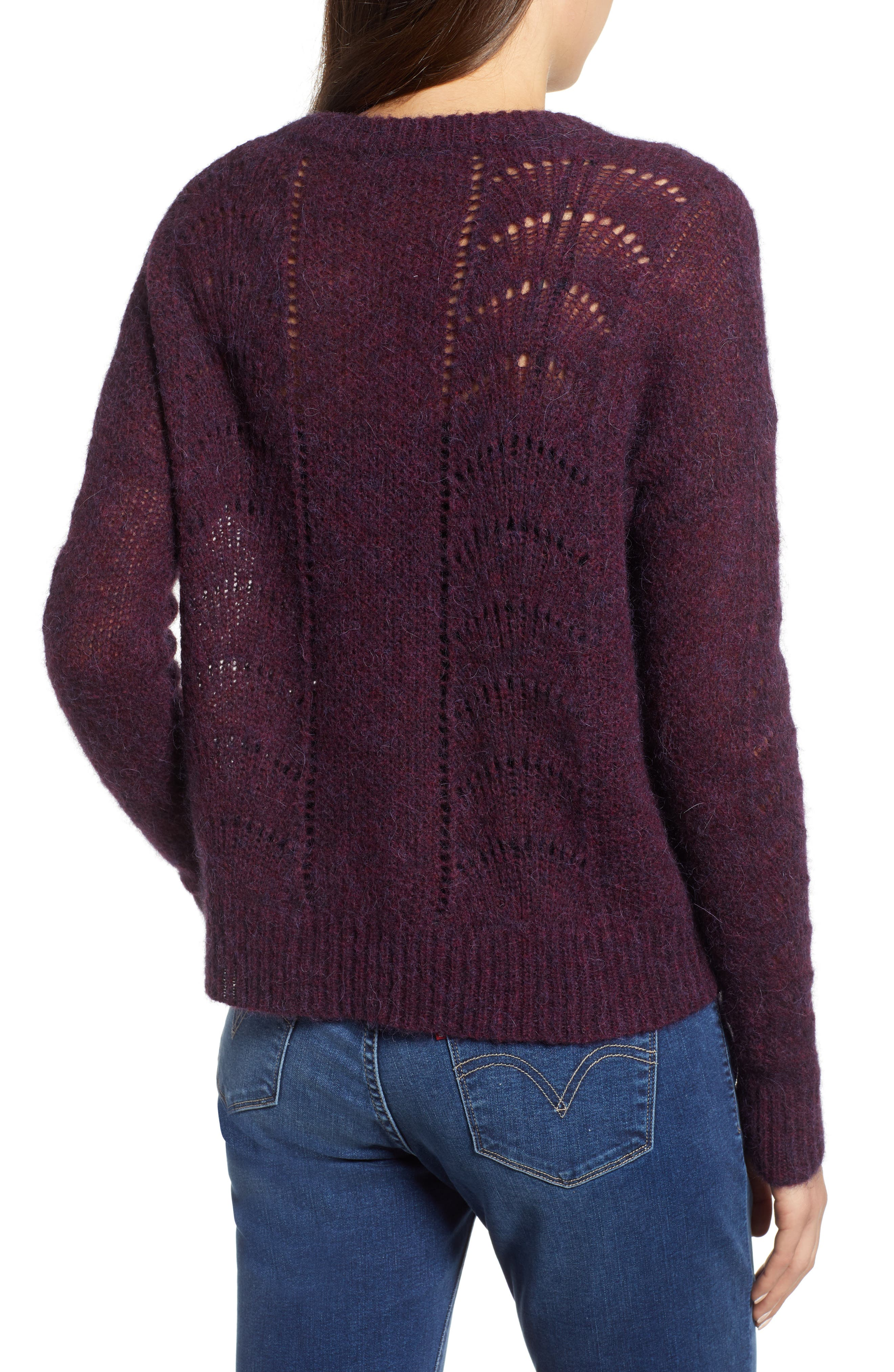 Mara Sweater,                             Alternate thumbnail 2, color,                             BLACKBERRY