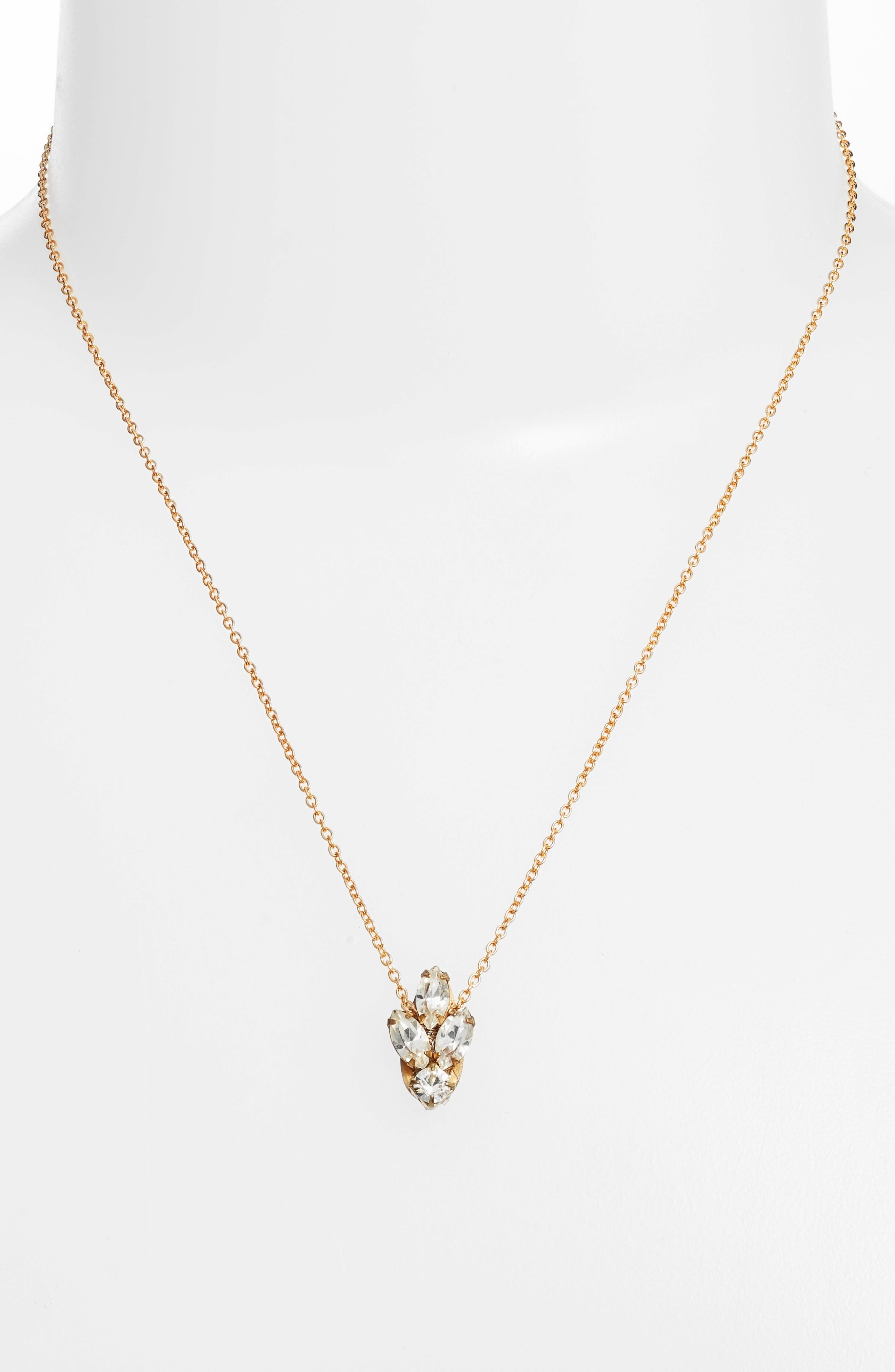 Mini Crystal Necklace,                             Alternate thumbnail 2, color,                             710