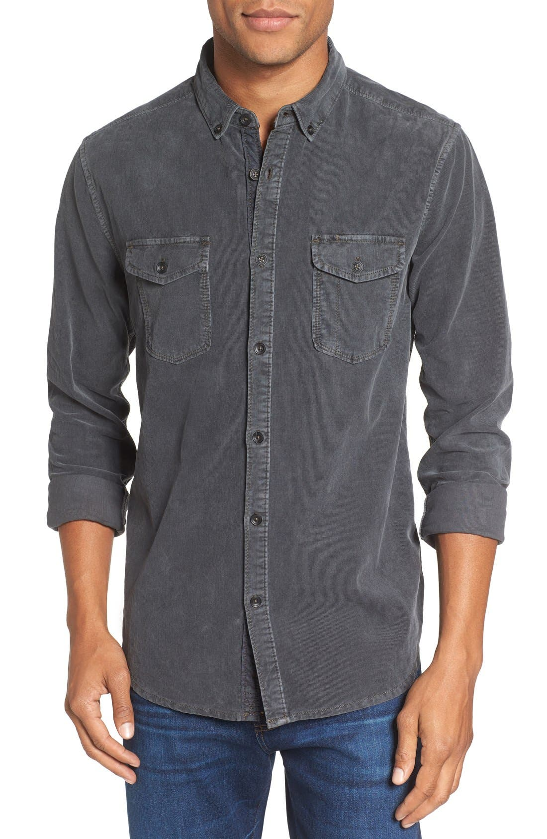 'Jaymes' Pigment Dyed Corduroy Shirt,                         Main,                         color, 022