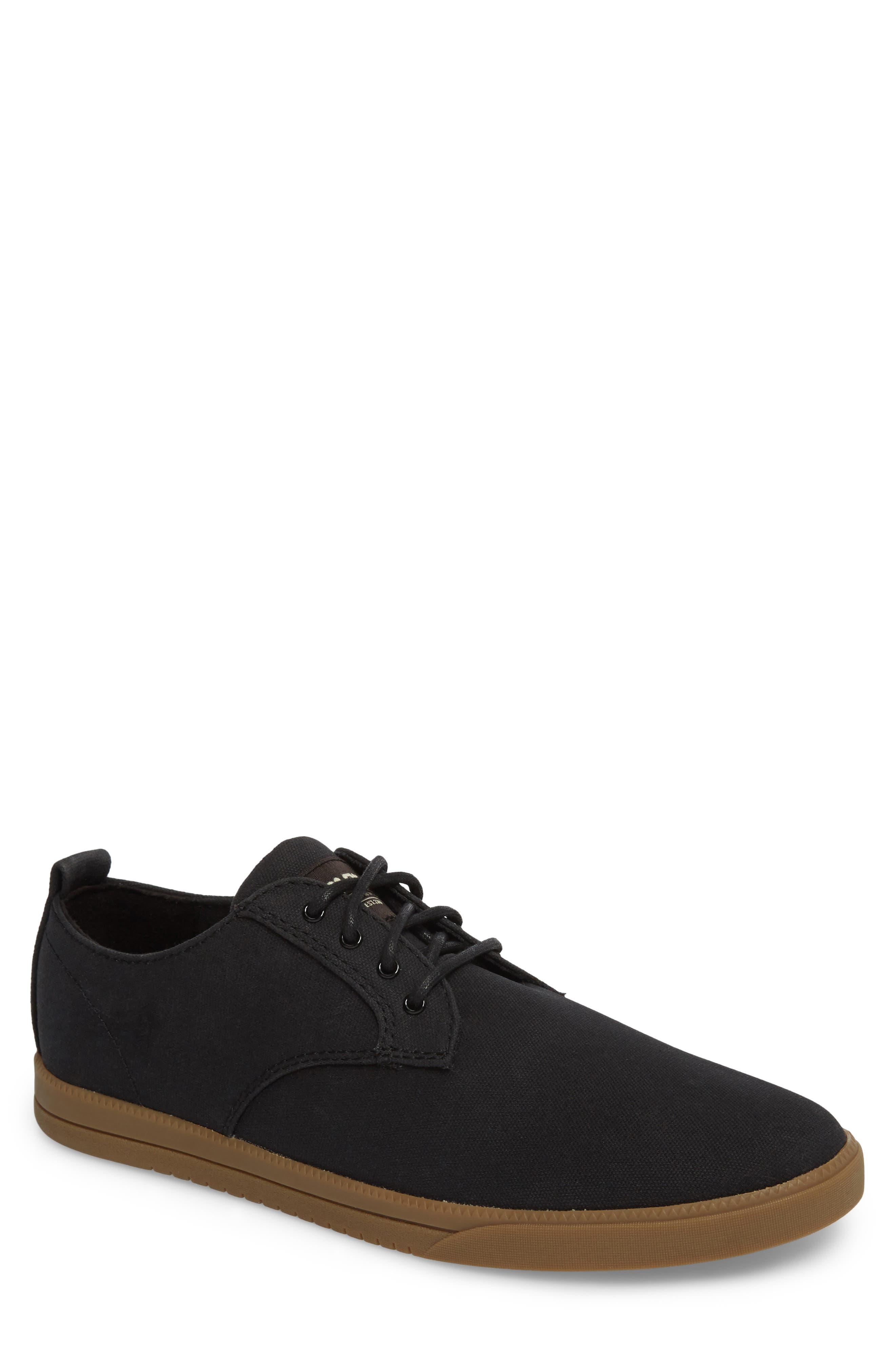 CLAE Ellington Sneaker, Main, color, BLACK WAXED CANVAS