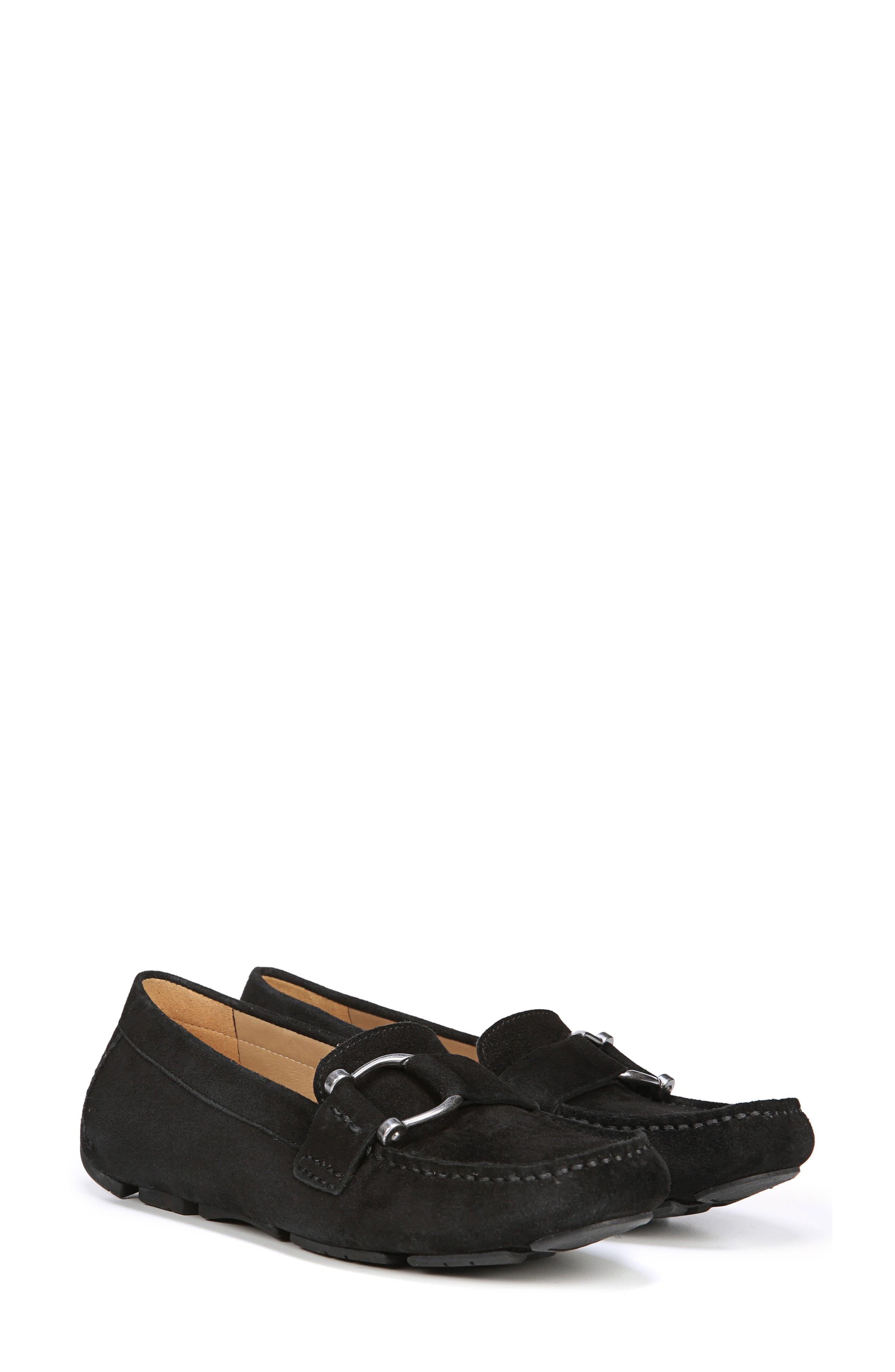 Nara Loafer,                             Alternate thumbnail 7, color,                             BLACK SUEDE