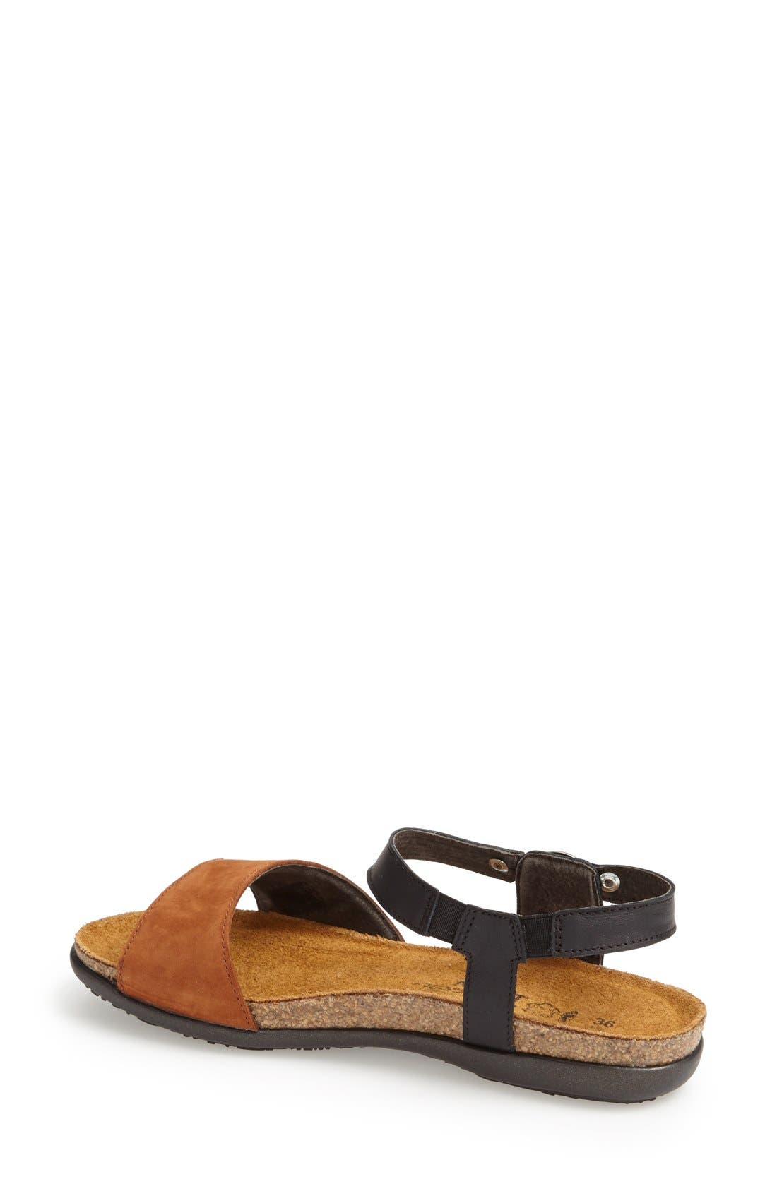 'Sabrina' Sandal,                             Alternate thumbnail 2, color,                             BLACK/ BROWN