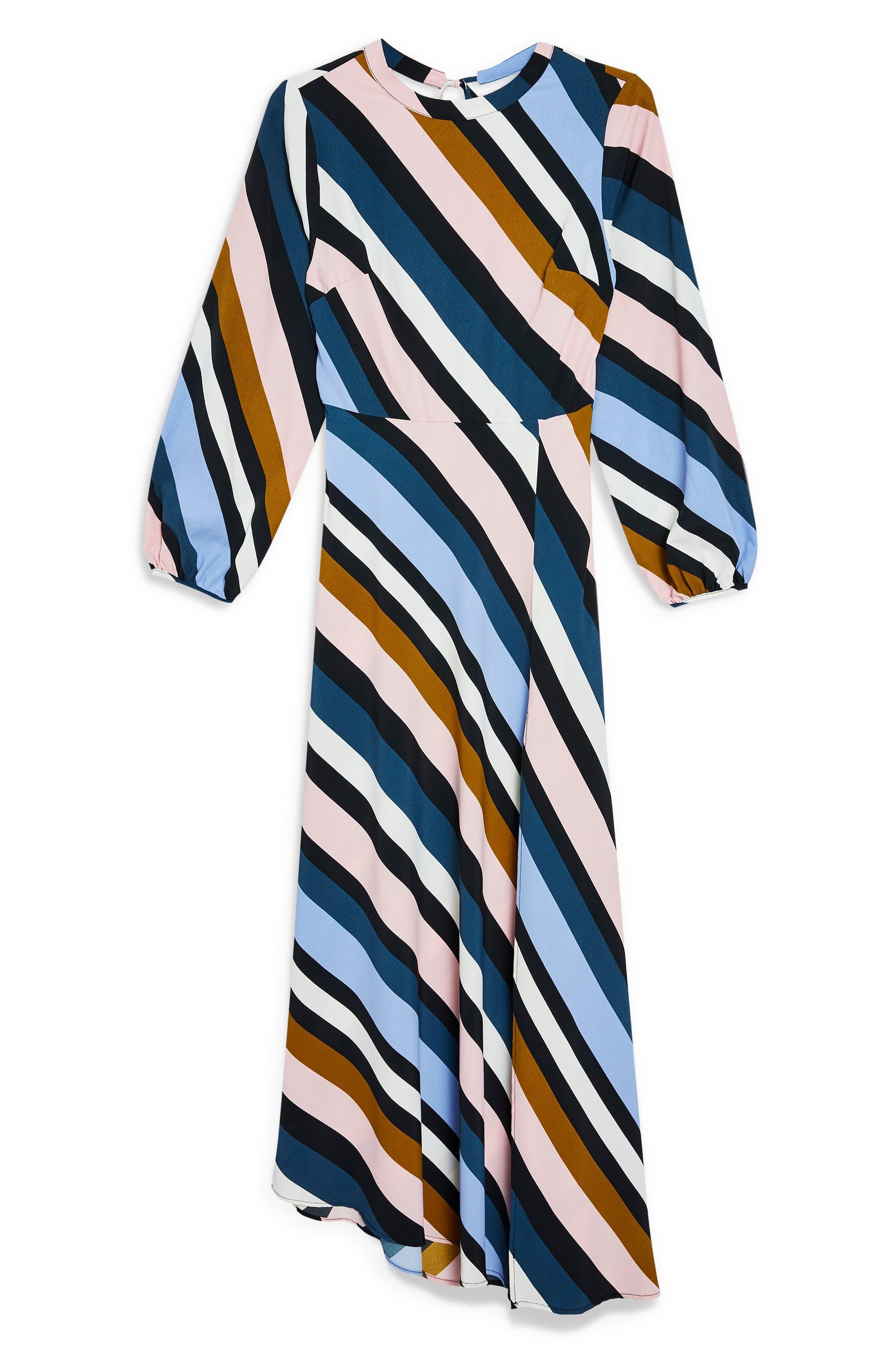 Open Back Midi Dress,                             Alternate thumbnail 6, color,                             460