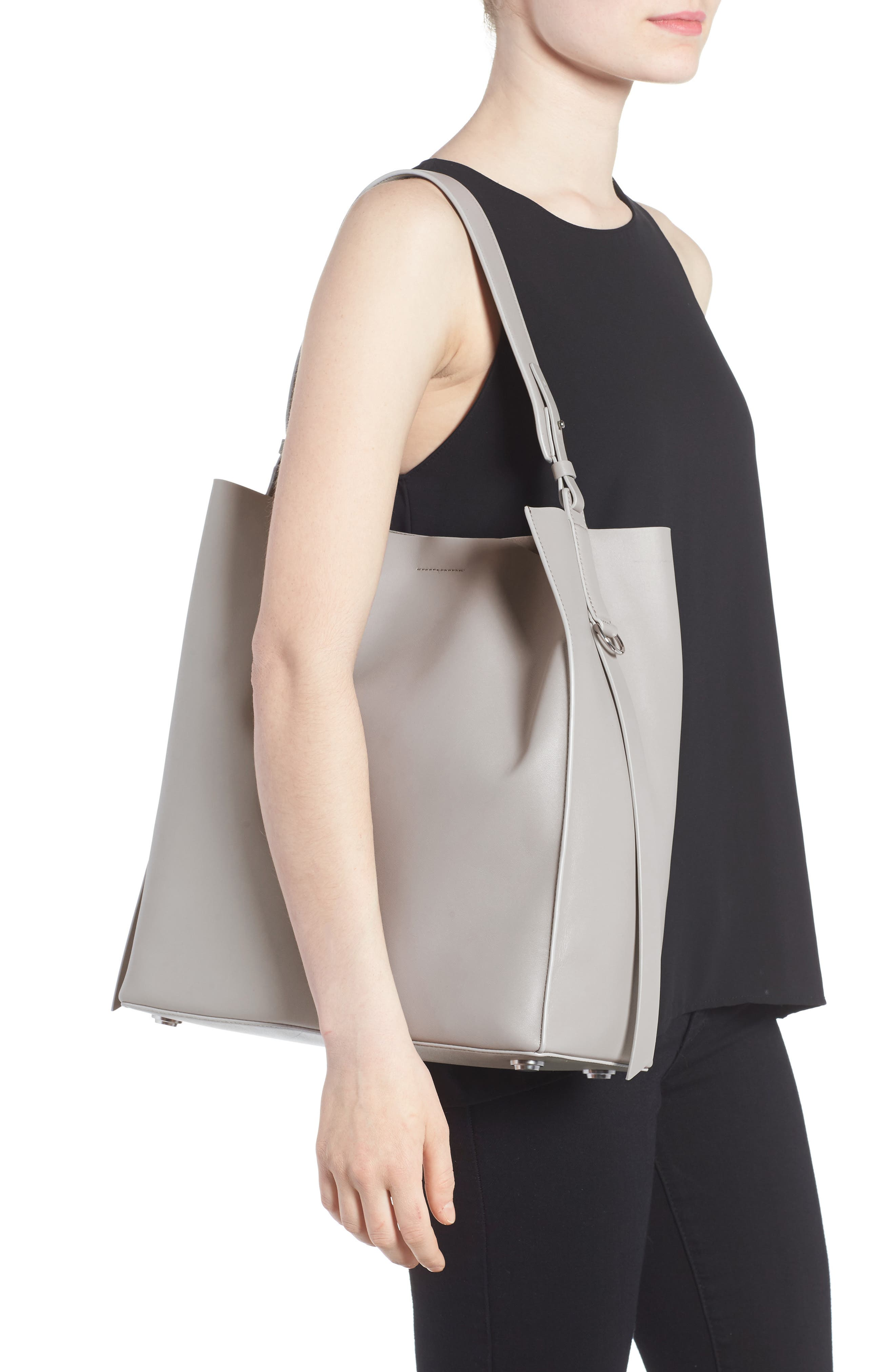 'Paradise North/South' Calfskin Leather Tote,                             Alternate thumbnail 15, color,