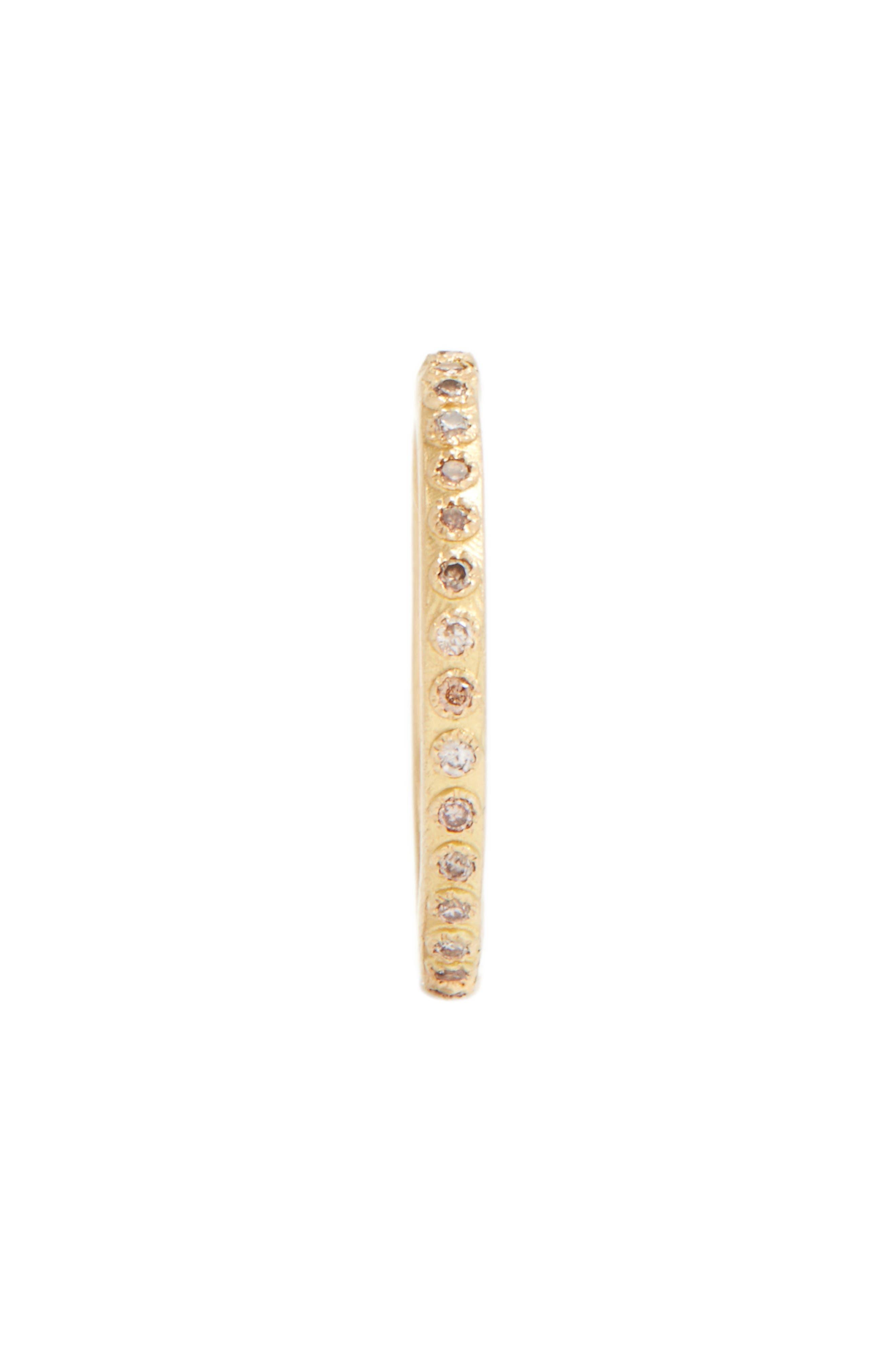 Sueño Champagne Diamond Band Ring,                             Alternate thumbnail 2, color,                             GOLD