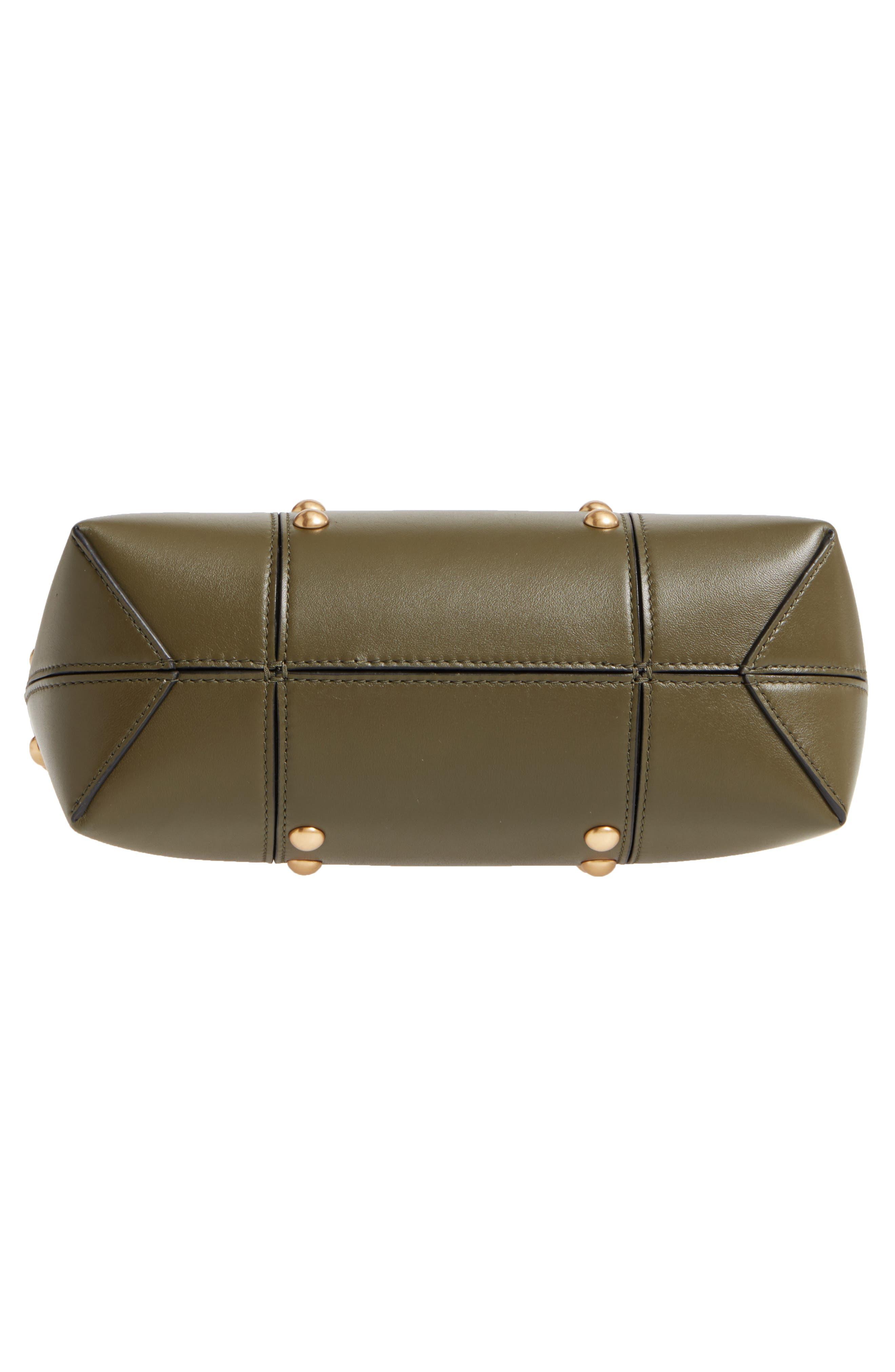 Block-T Mini Studded Leather Tote,                             Alternate thumbnail 6, color,                             300