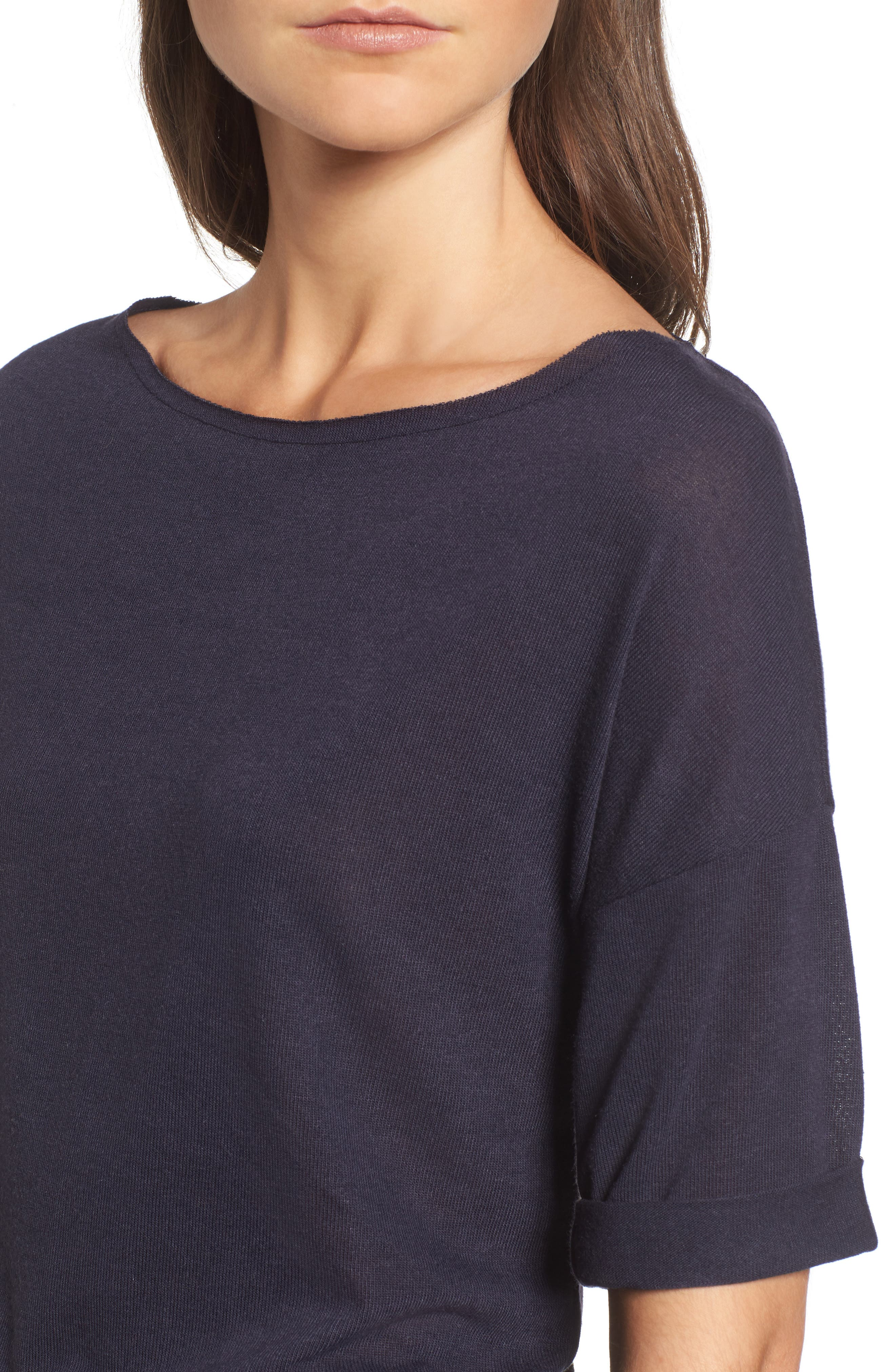 x Something Navy Easy Tee,                             Alternate thumbnail 12, color,