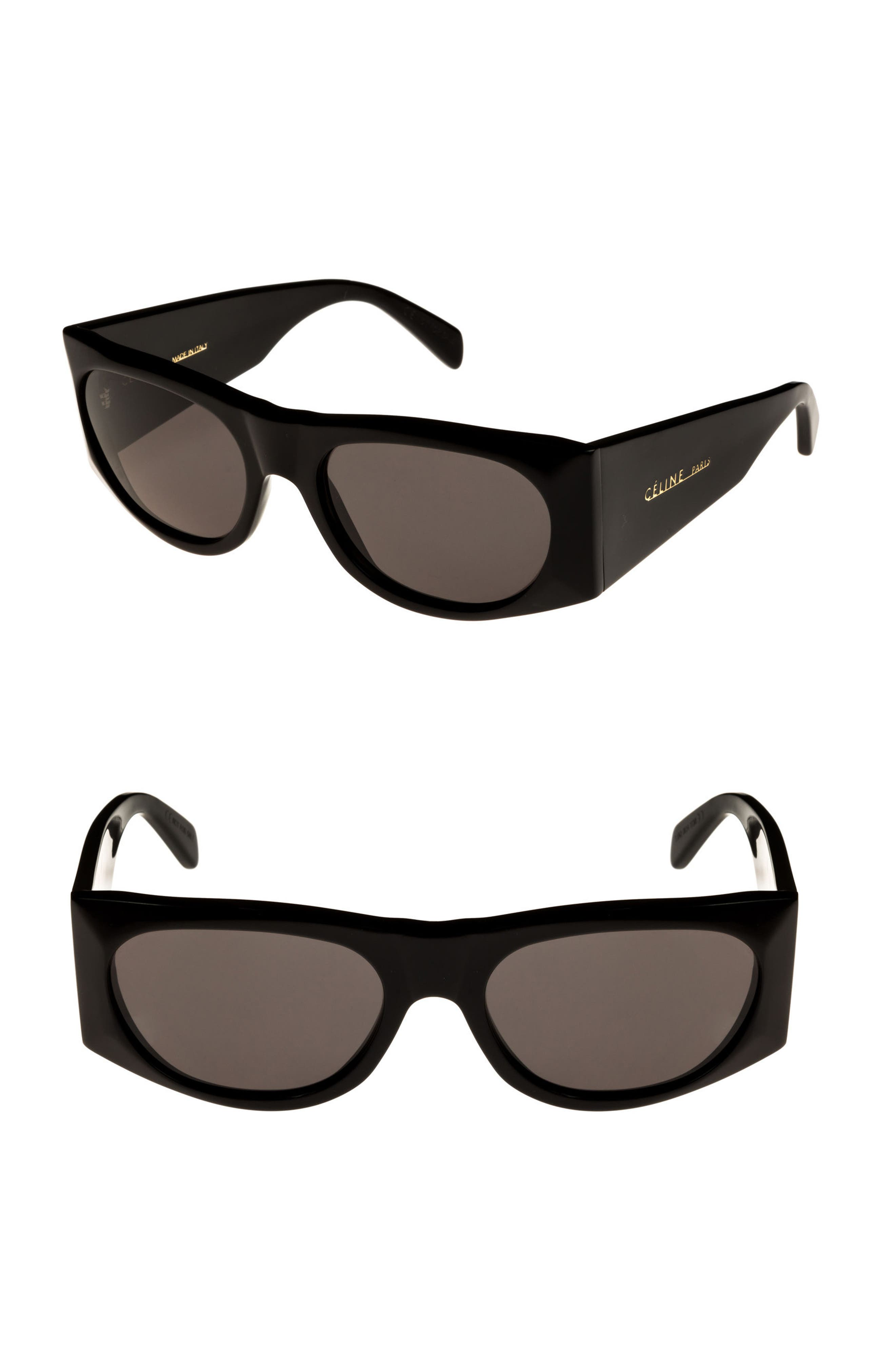 59mm Sunglasses,                             Main thumbnail 1, color,                             BLACK/ SMOKE