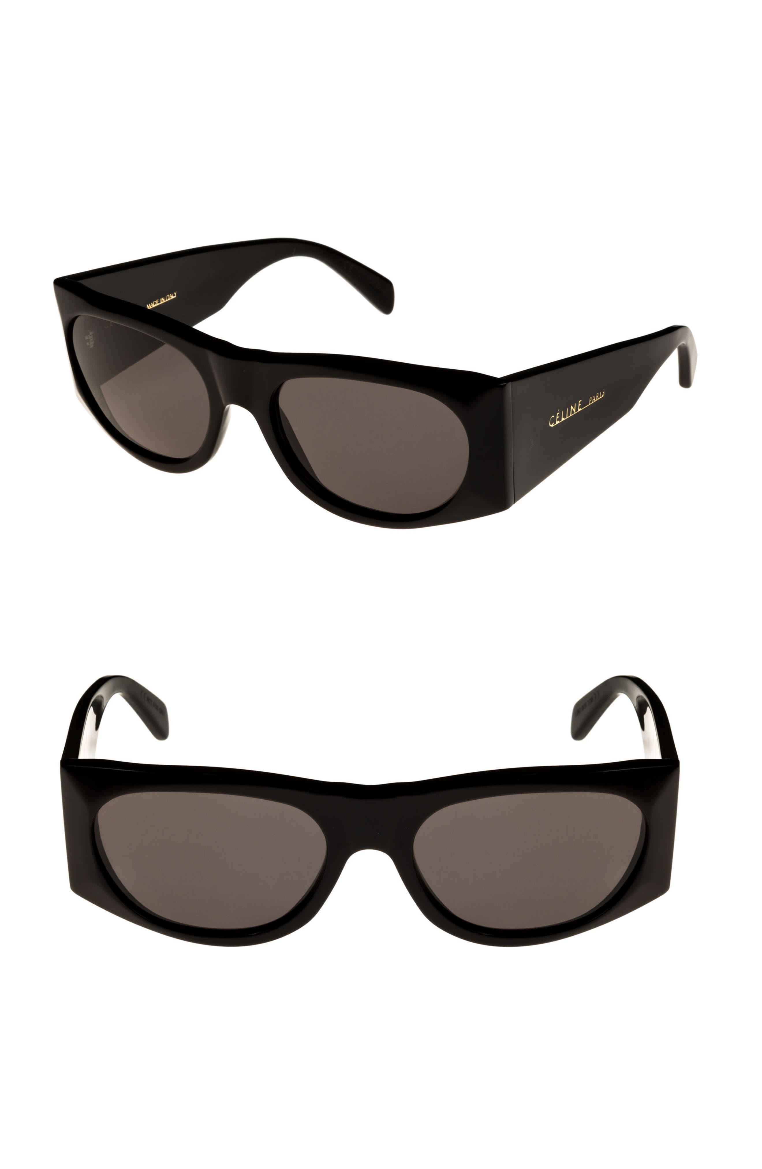 59mm Sunglasses,                         Main,                         color, BLACK/ SMOKE