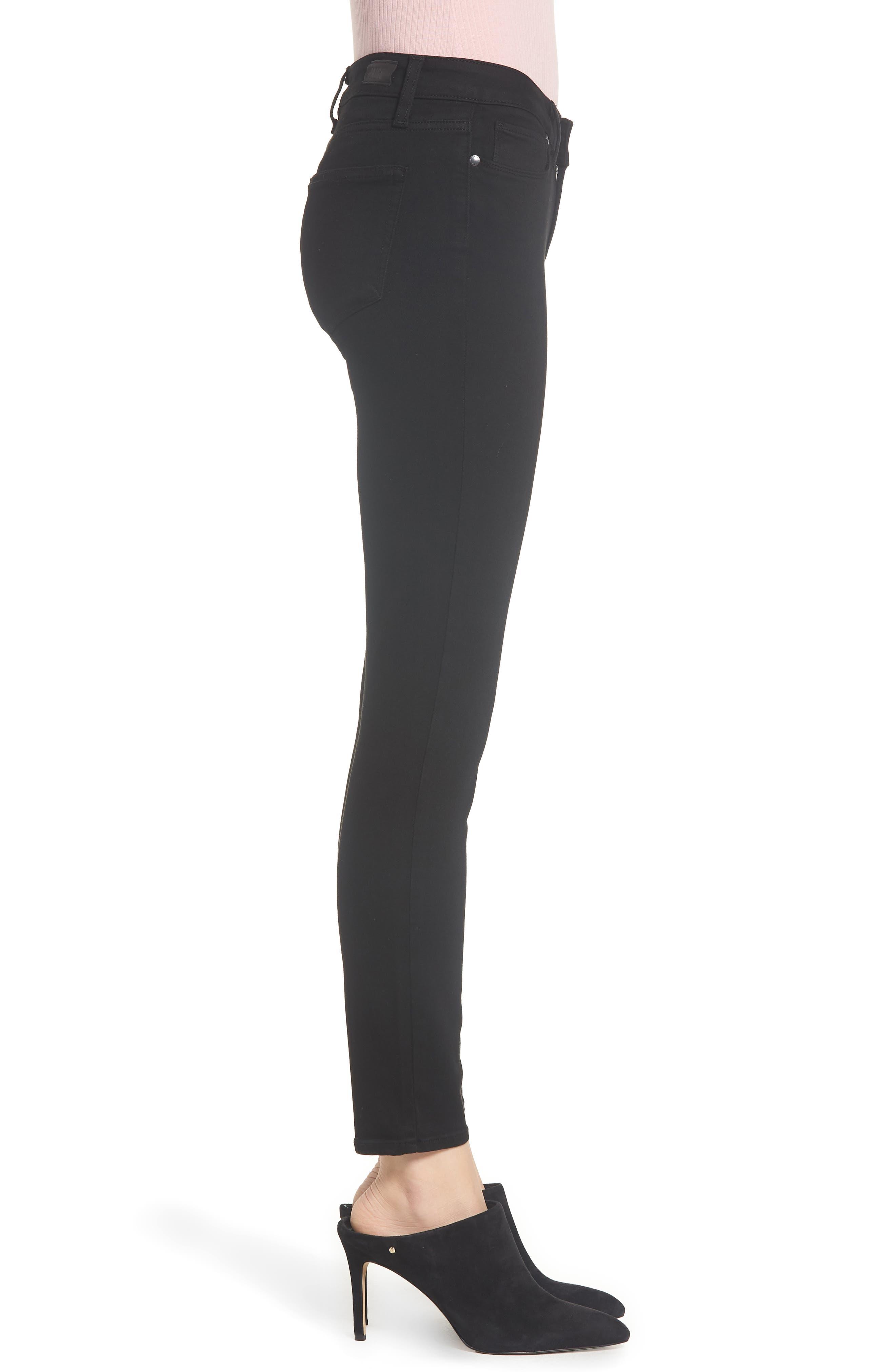 Transcend - Verdugo Ankle Ultra Skinny Jeans,                             Alternate thumbnail 4, color,                             BLACK SHADOW