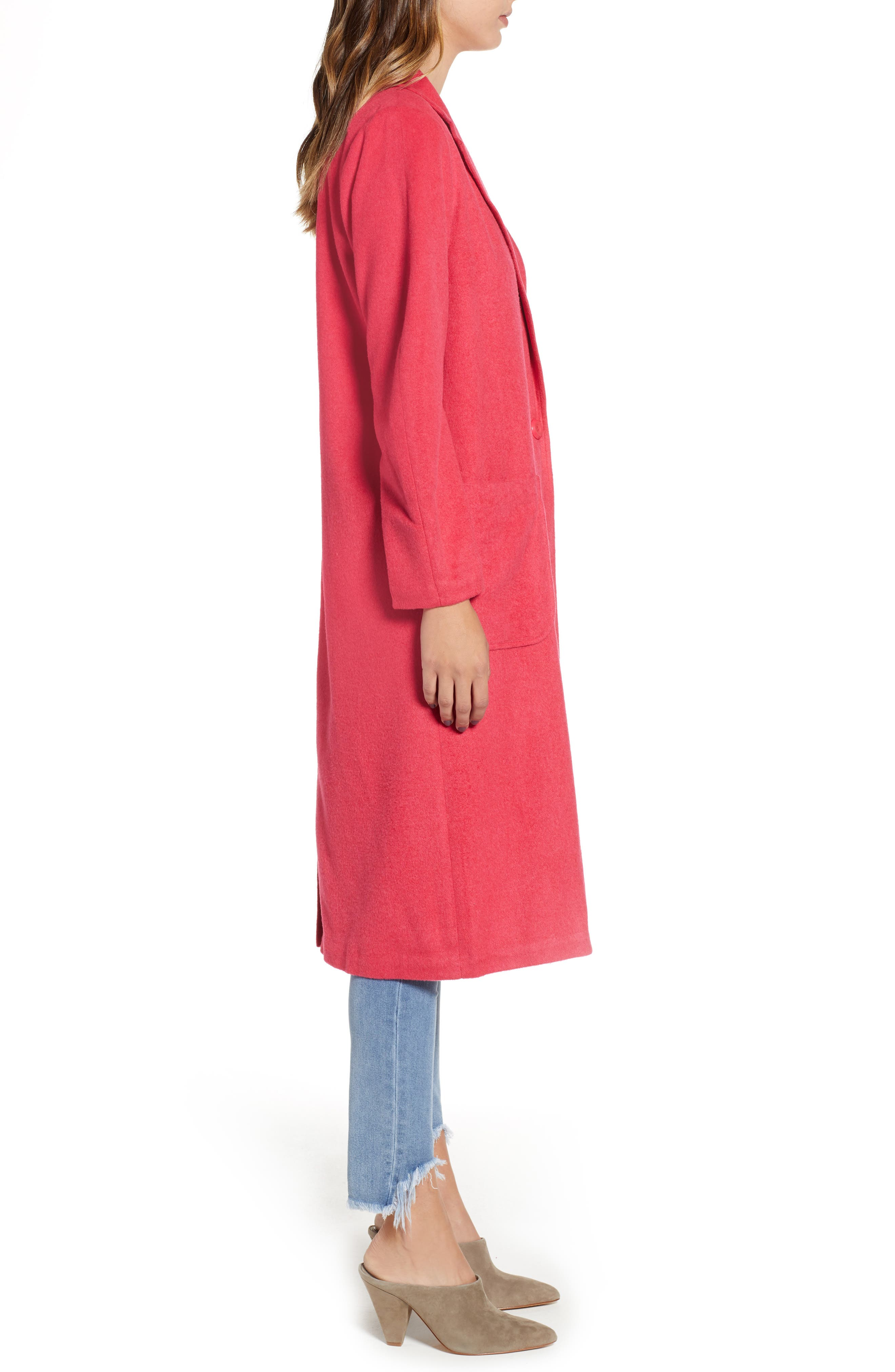 Single Button Long Jacket,                             Alternate thumbnail 3, color,                             651