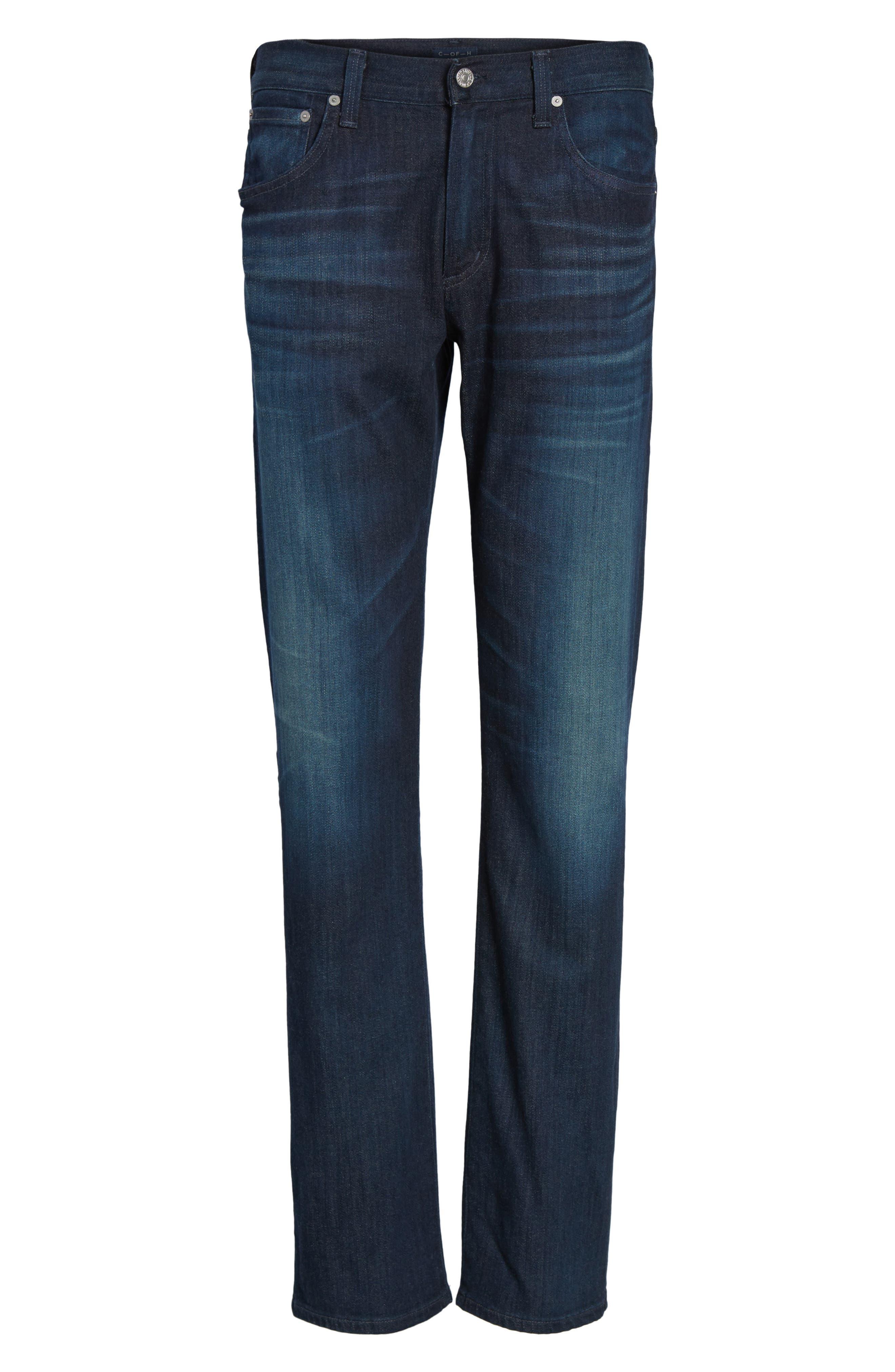 'Sid Classic' Straight Leg Jeans,                             Alternate thumbnail 7, color,                             473