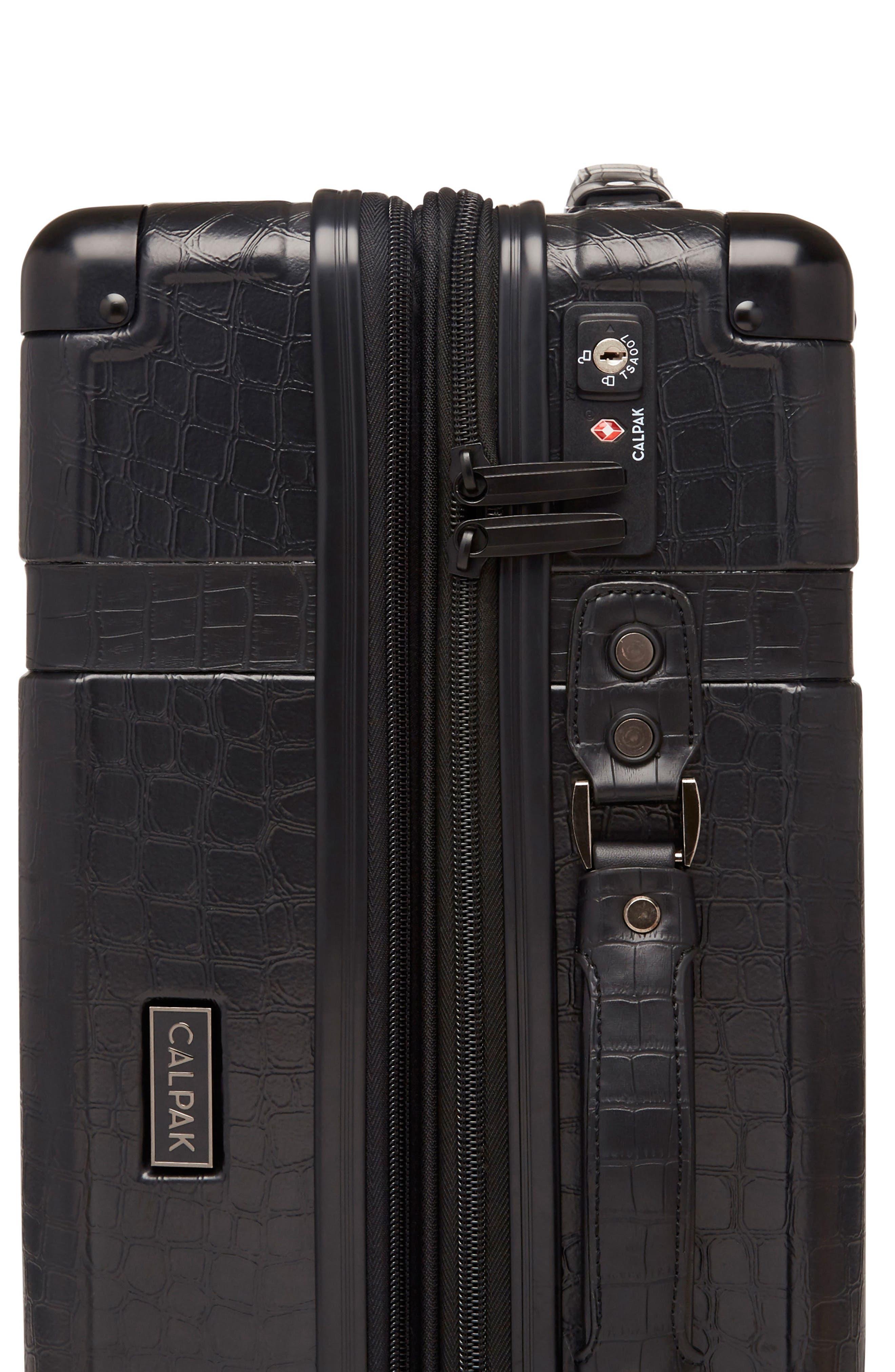 Trunk 22-Inch Rolling Suitcase,                             Alternate thumbnail 3, color,                             NOIR