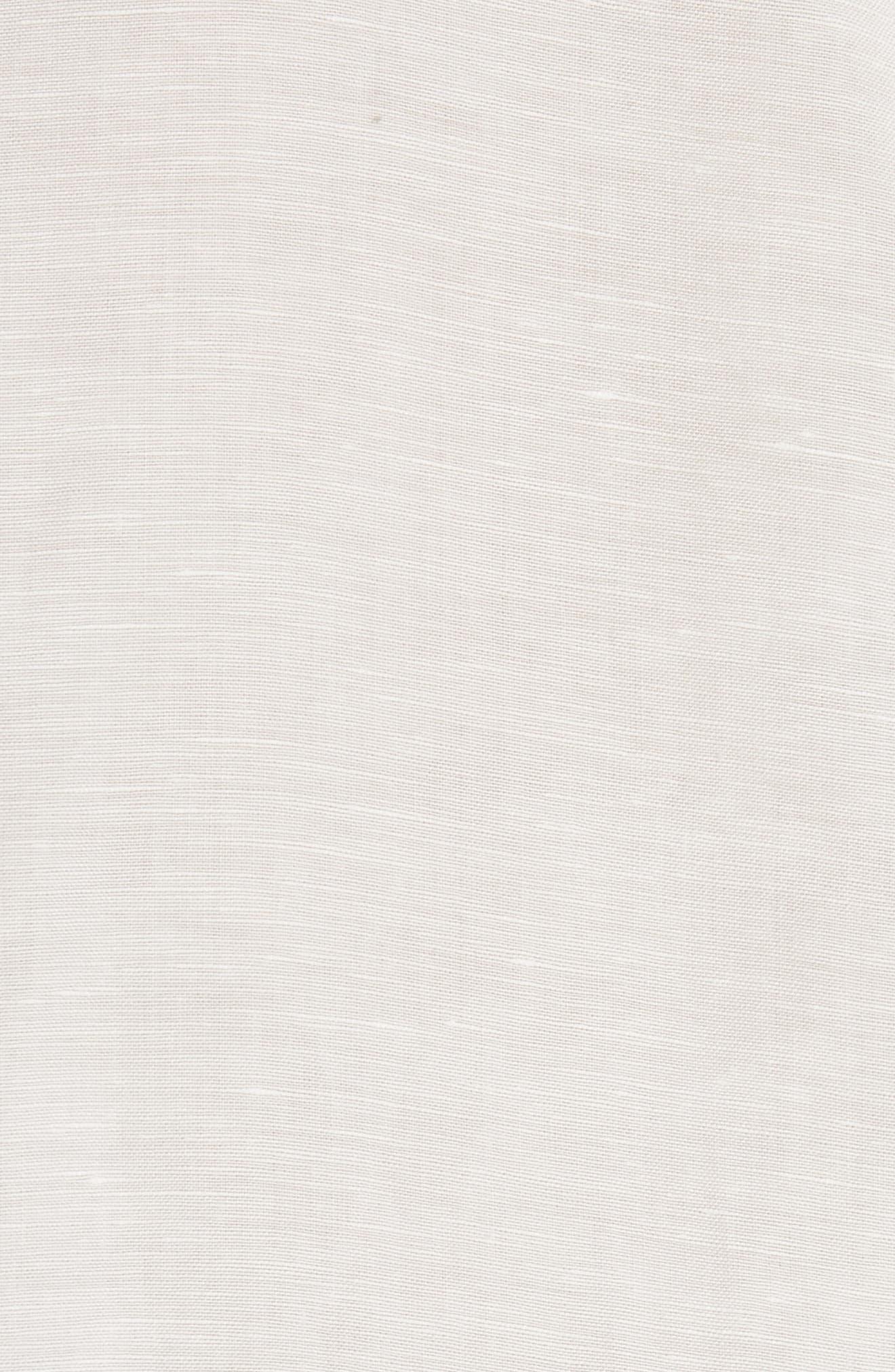 Abe Linen Blend Shirt,                             Alternate thumbnail 5, color,                             WHITE