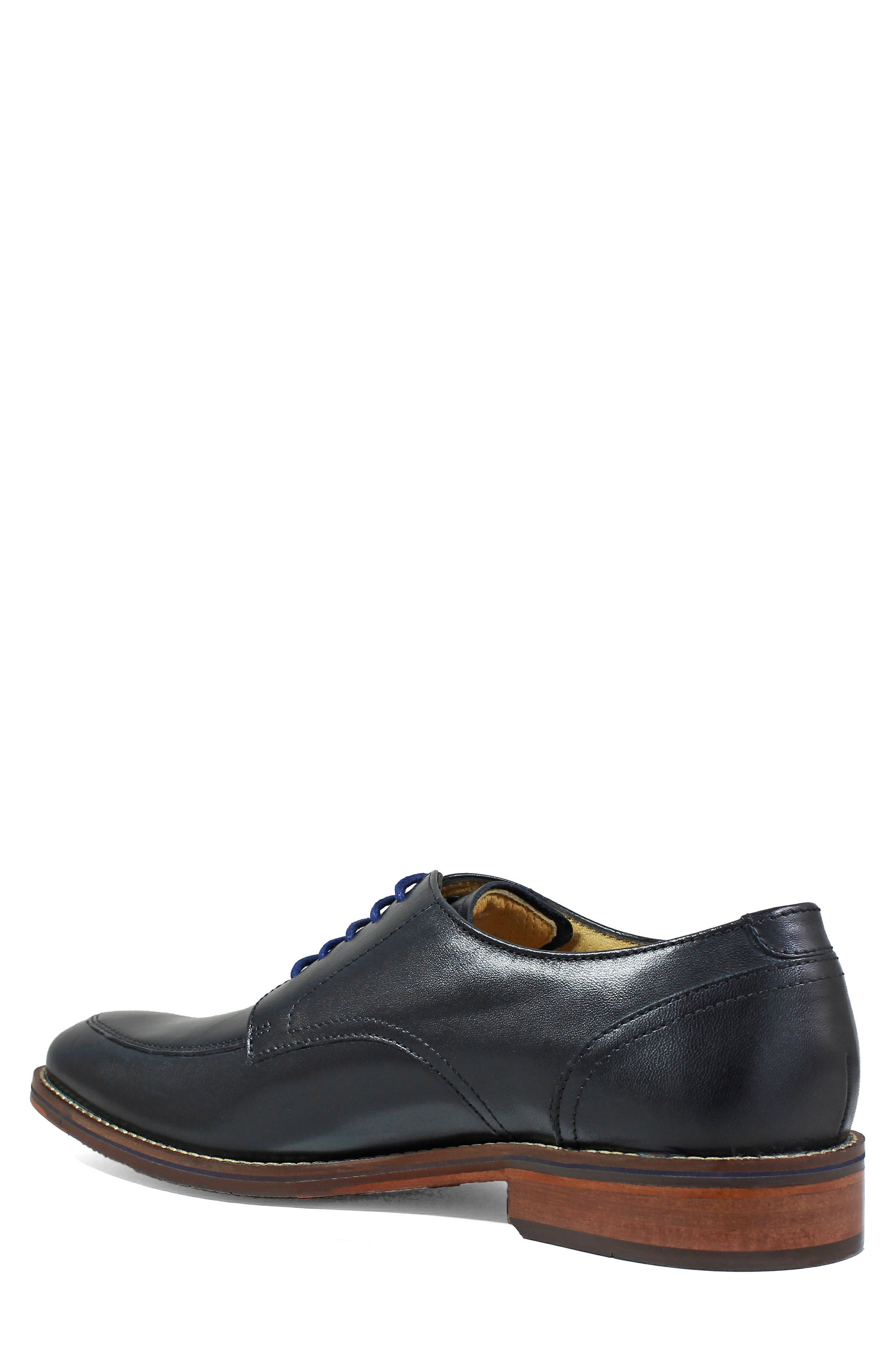 Salerno Apron Toe Derby,                             Alternate thumbnail 2, color,                             BLACK LEATHER