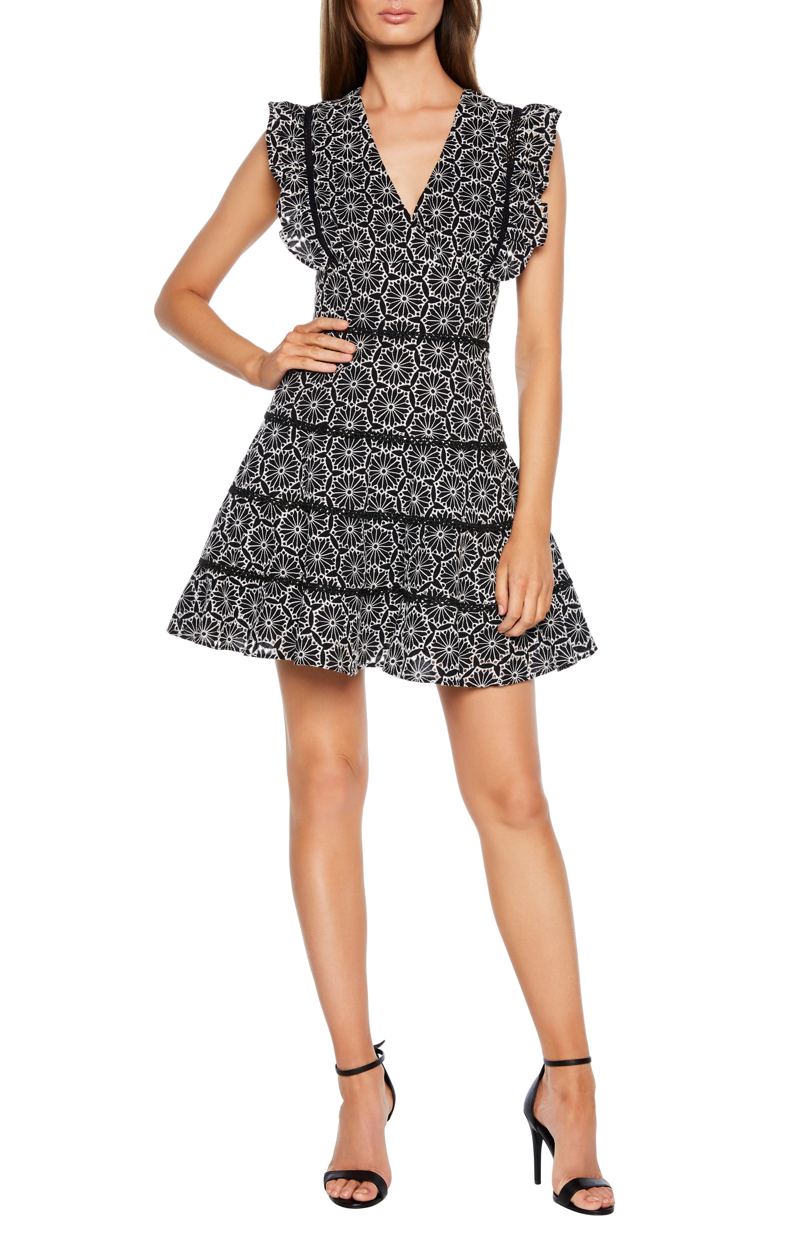 Bardot Sierra Fit & Flare Dress, Black