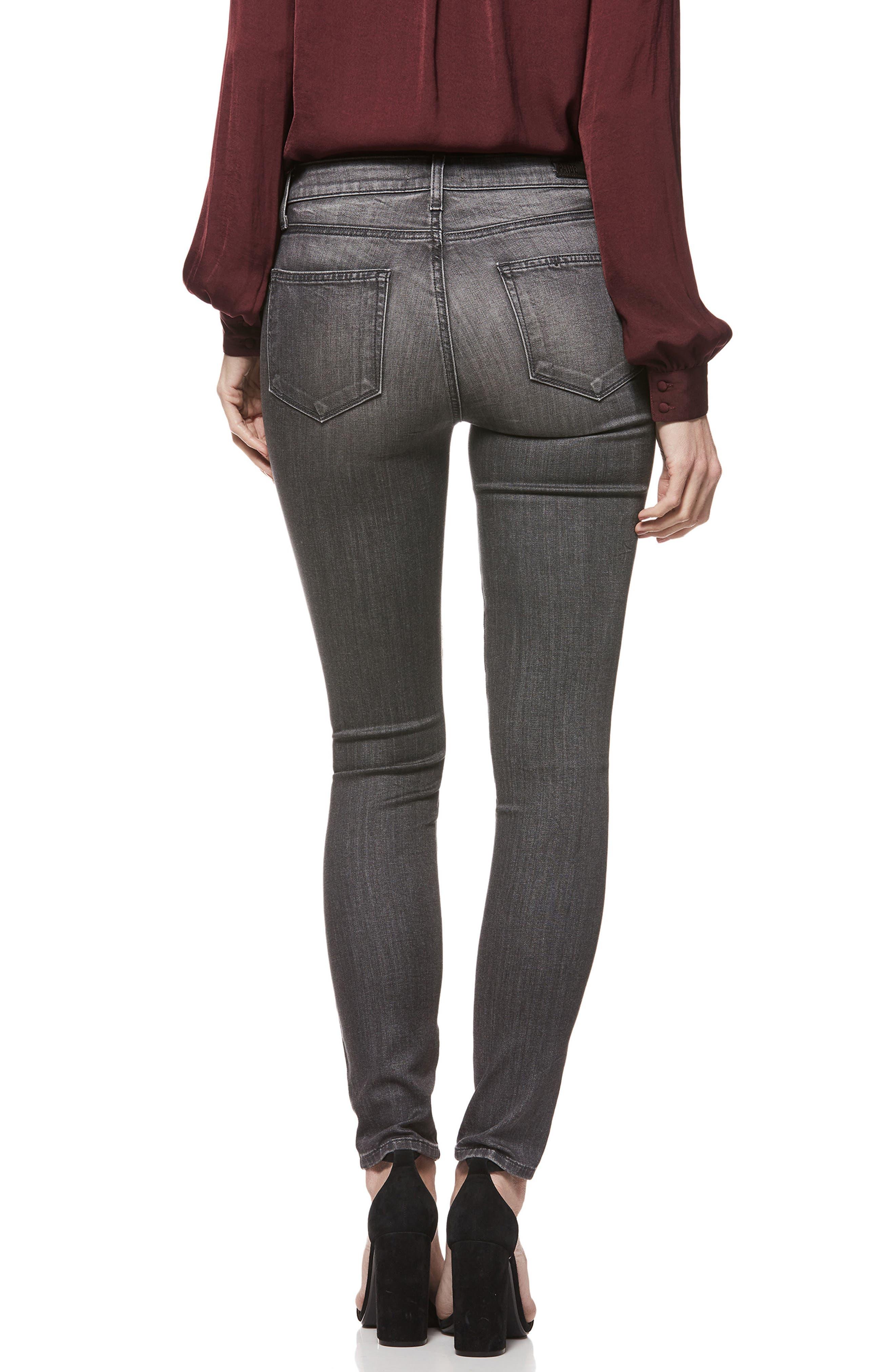 Hoxton Transcend High Waist Skinny Jeans,                             Alternate thumbnail 2, color,                             GREY PEAKS