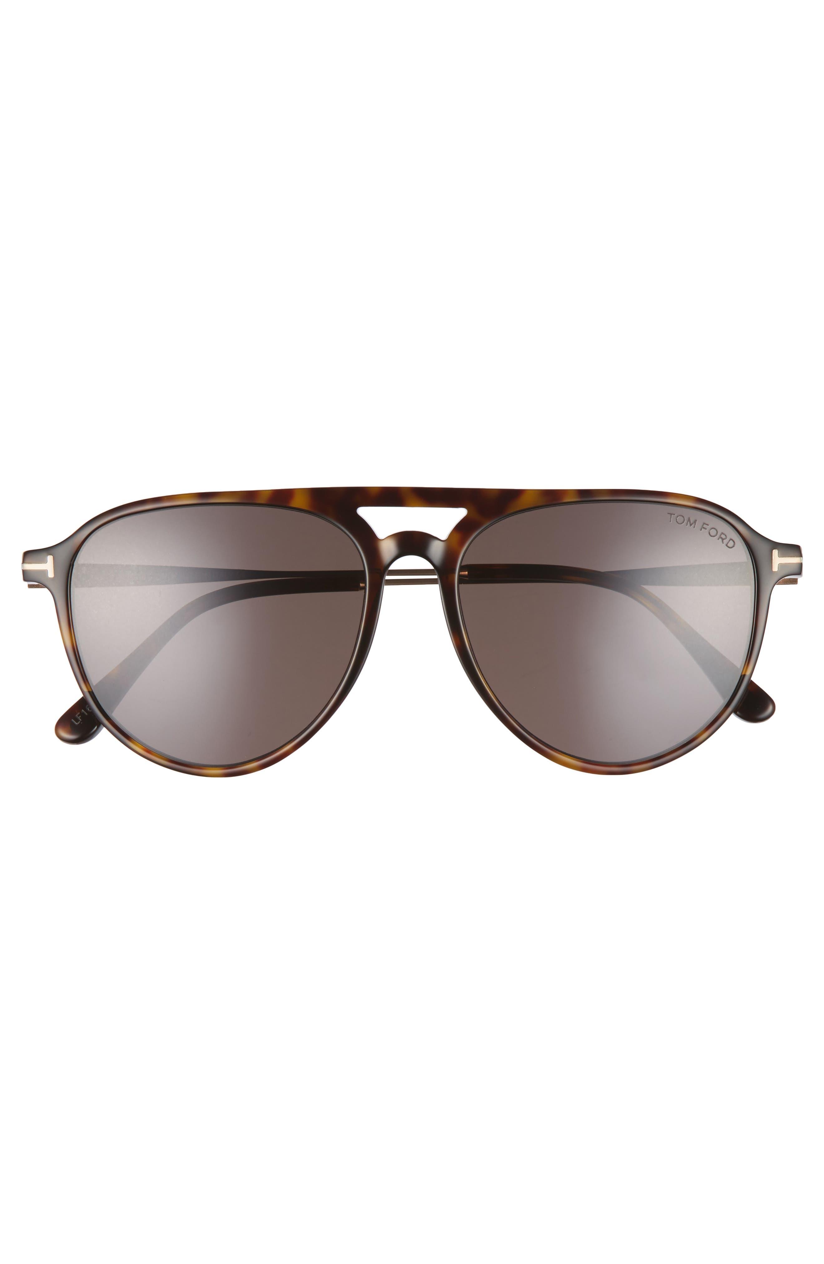 Carlo 59mm Aviator Sunglasses,                             Alternate thumbnail 4, color,