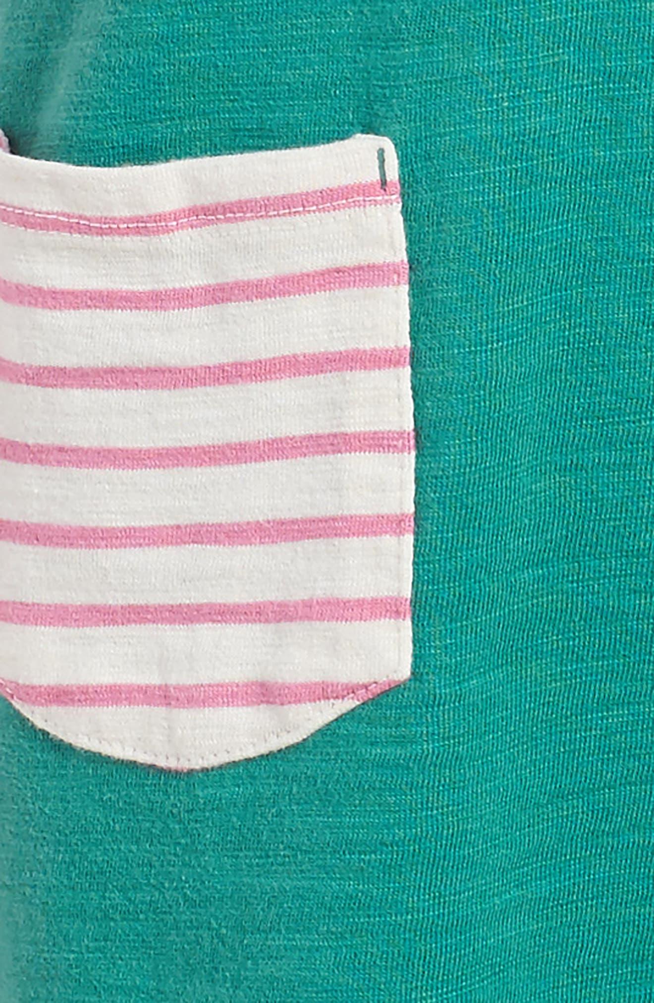Stripy Jersey Dress,                             Alternate thumbnail 3, color,                             315