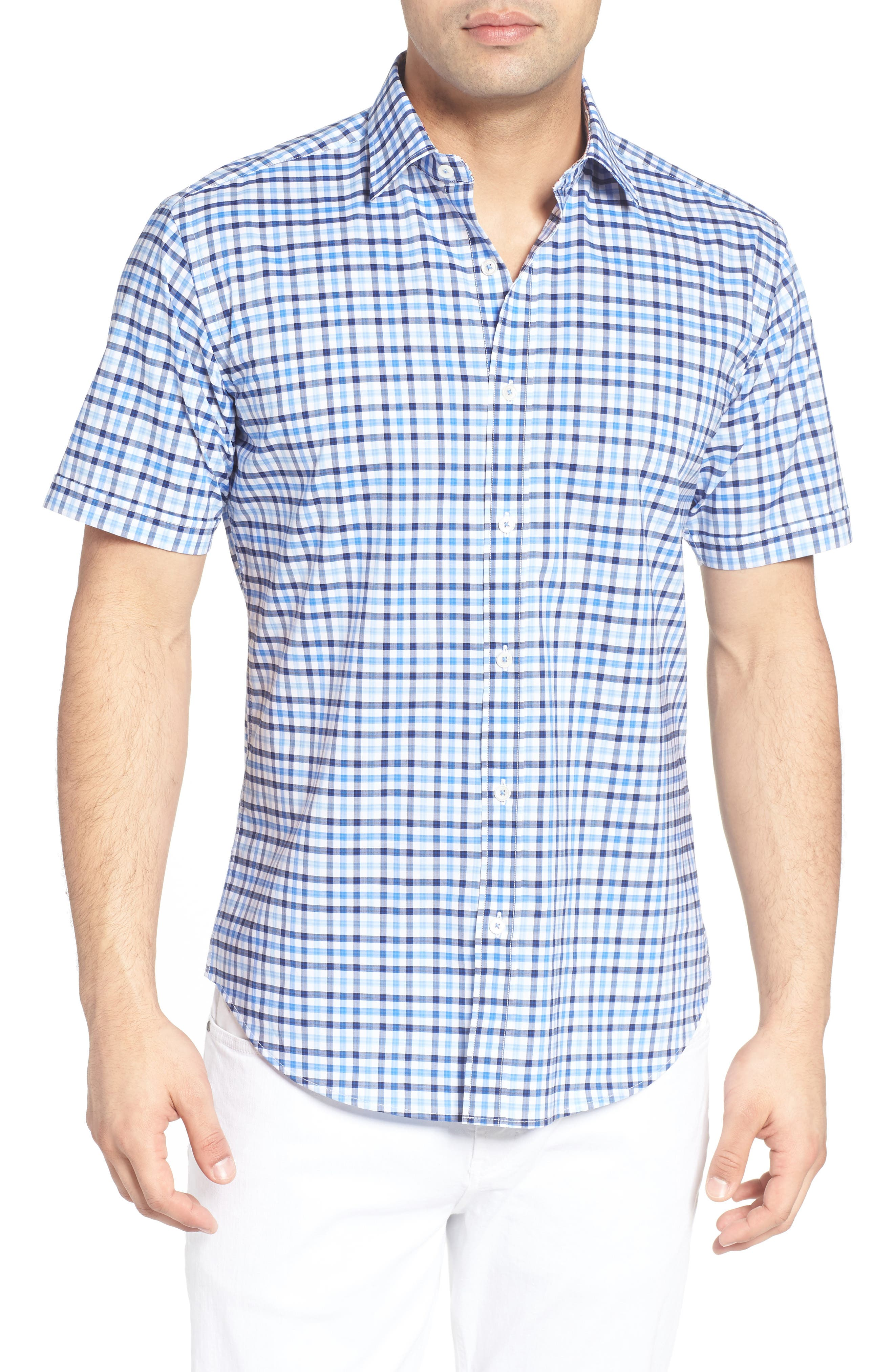 Classic Fit Check Sport Shirt,                         Main,                         color,