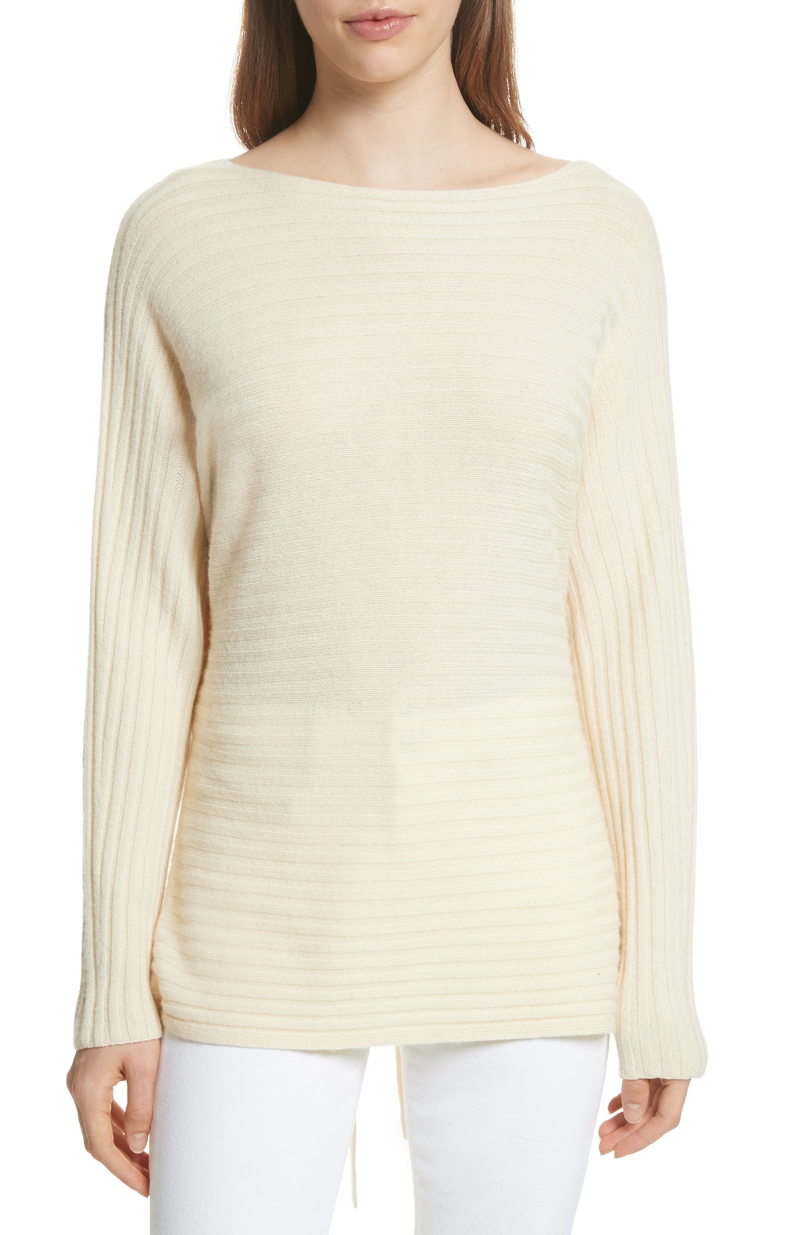Tie Back Wool & Cashmere Sweater,                             Main thumbnail 3, color,
