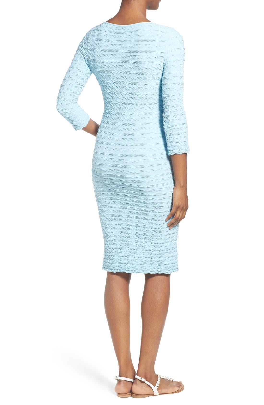 'Crinkle' Maternity Midi Dress,                             Alternate thumbnail 7, color,