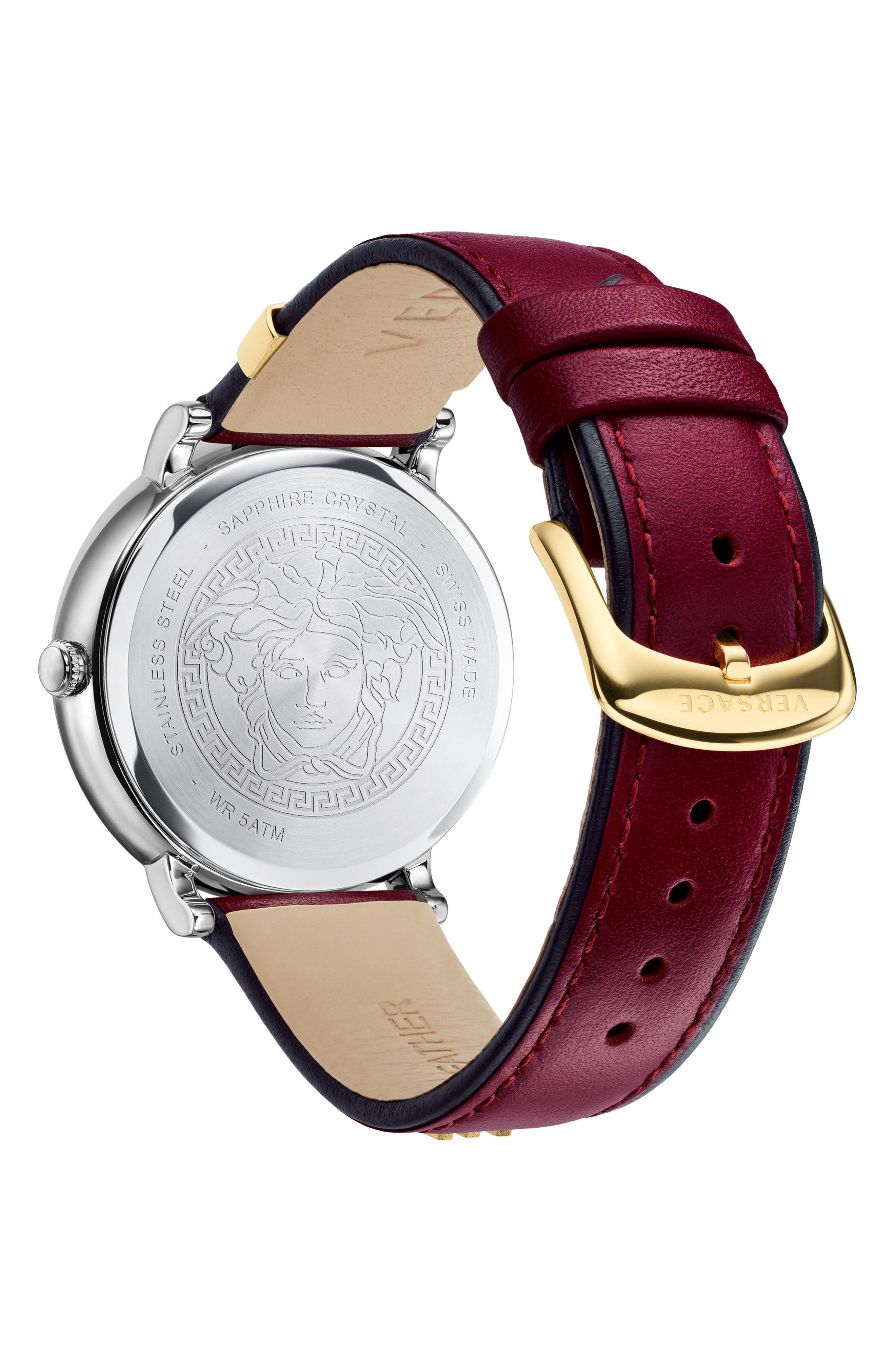 Manifesto Leather Strap Watch, 38mm,                             Alternate thumbnail 10, color,