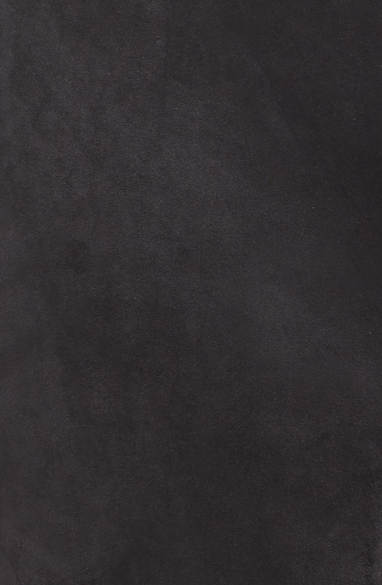 SEVEN7,                             High Rise Pull-On Vegan Leather Pants,                             Alternate thumbnail 6, color,                             CAVIAR