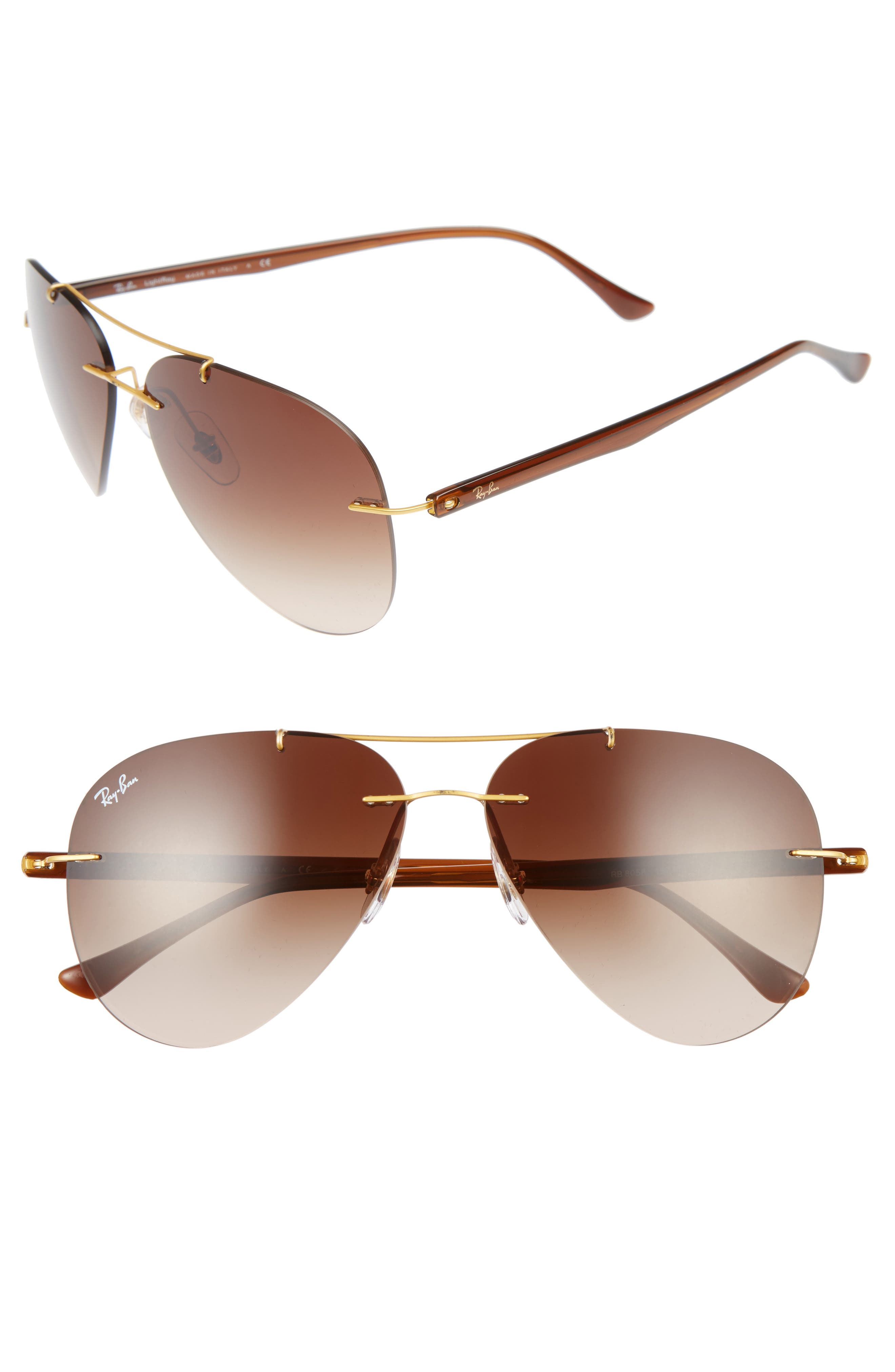 Tech 59mm Aviator Sunglasses,                             Main thumbnail 2, color,