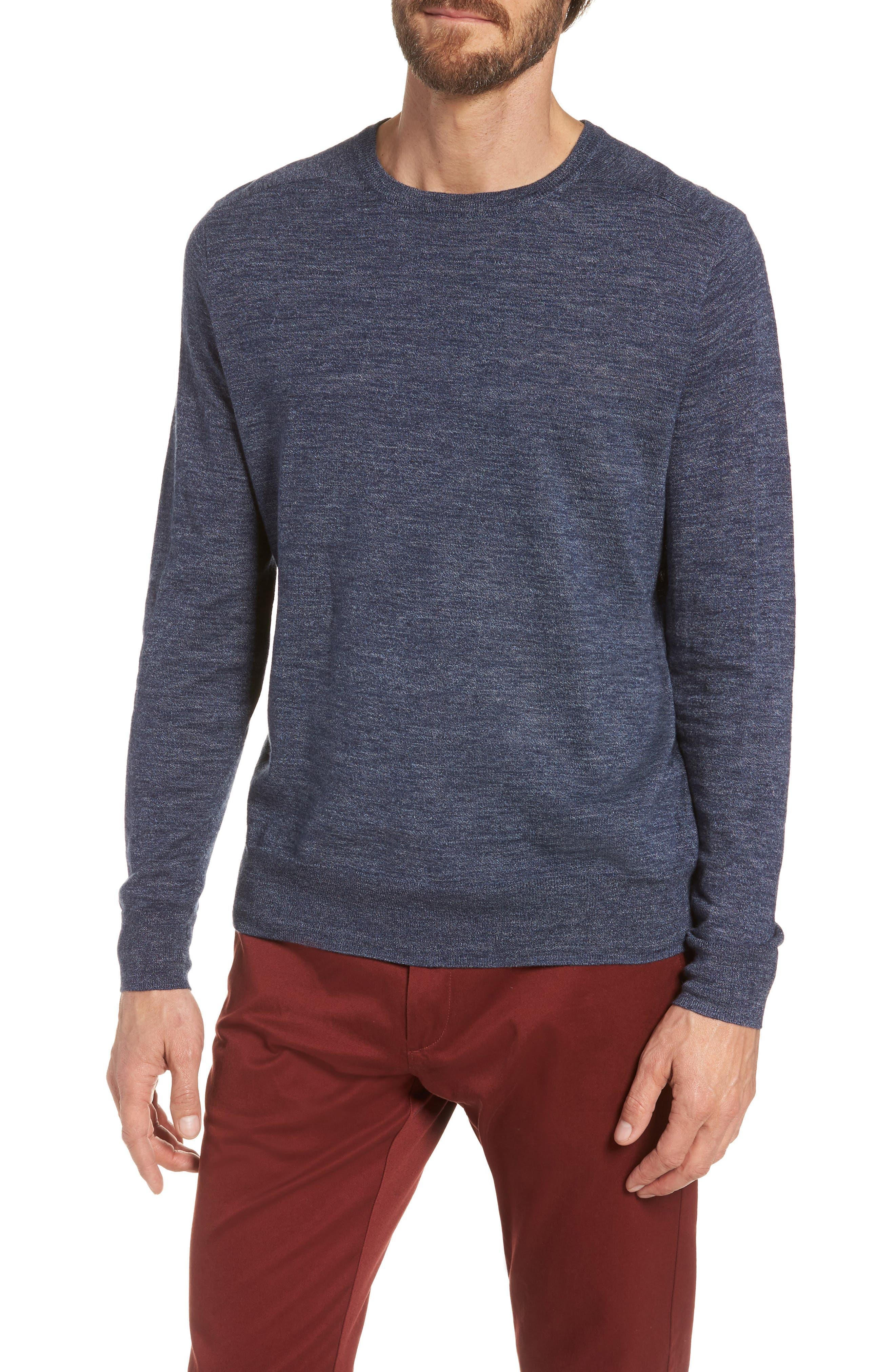 Cotton Blend Crewneck Sweater,                             Main thumbnail 3, color,