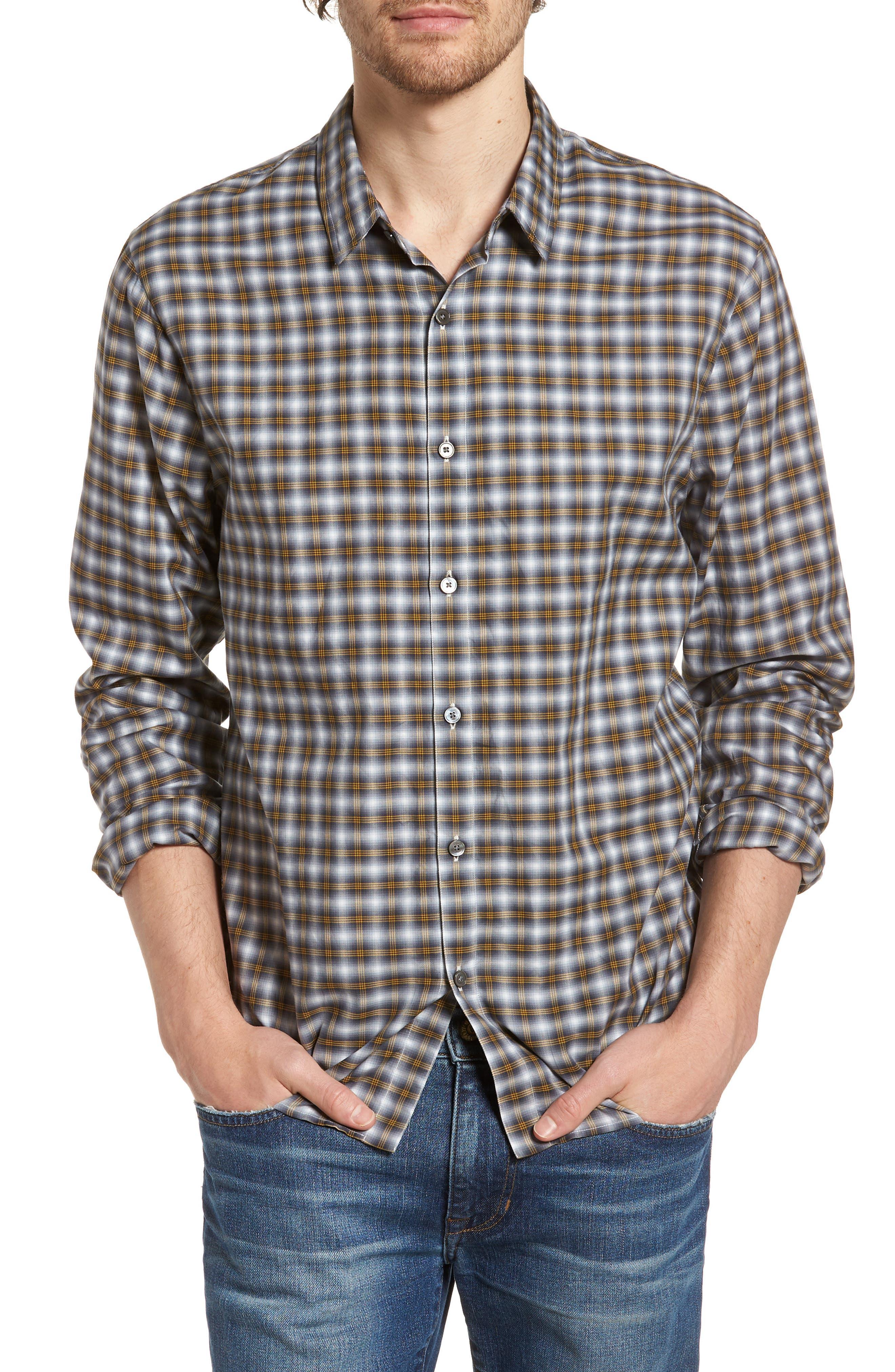 Regular Fit Plaid Sport Shirt,                         Main,                         color,