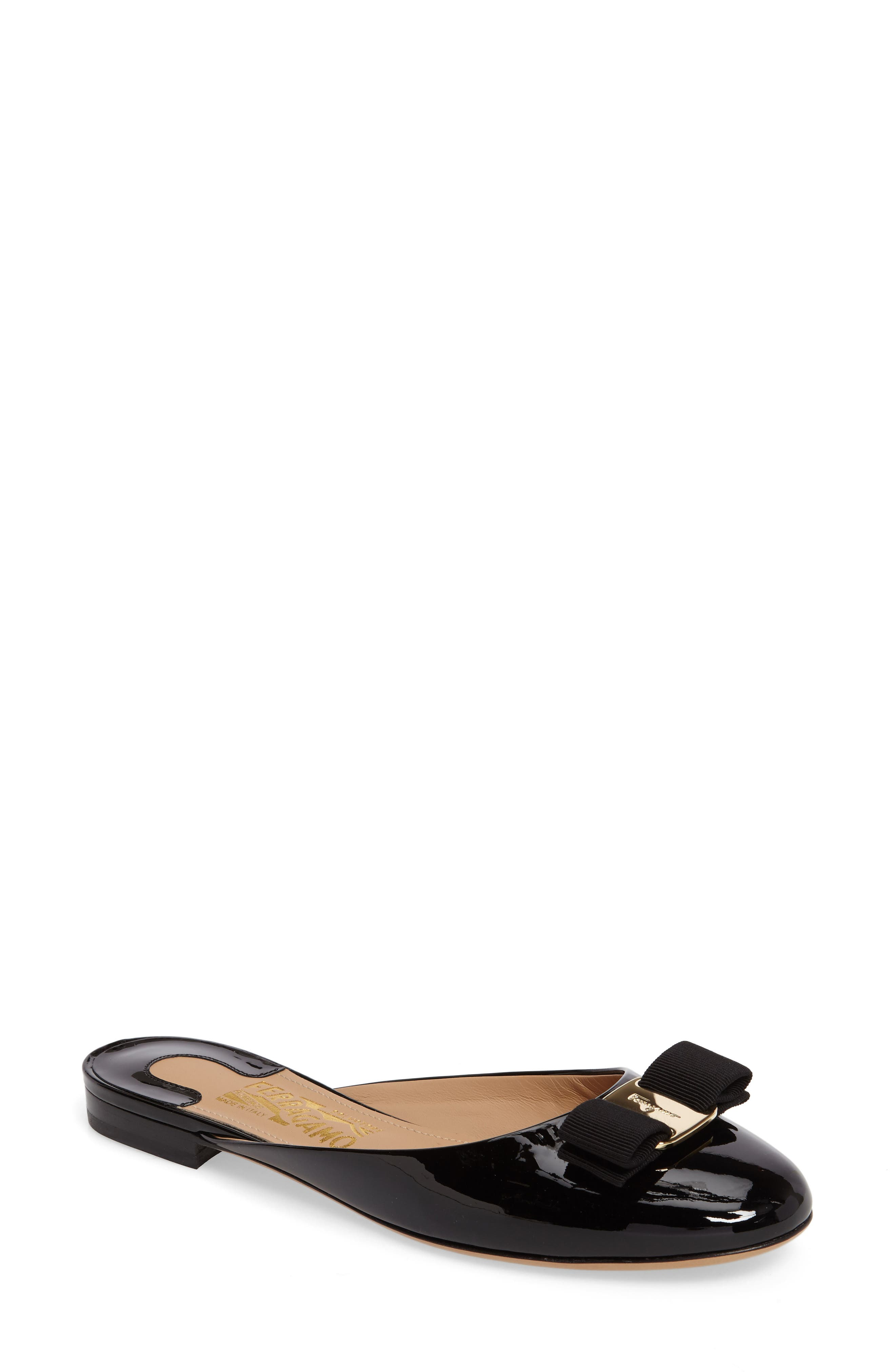 Rounded Toe Bow Mule,                             Main thumbnail 1, color,                             001