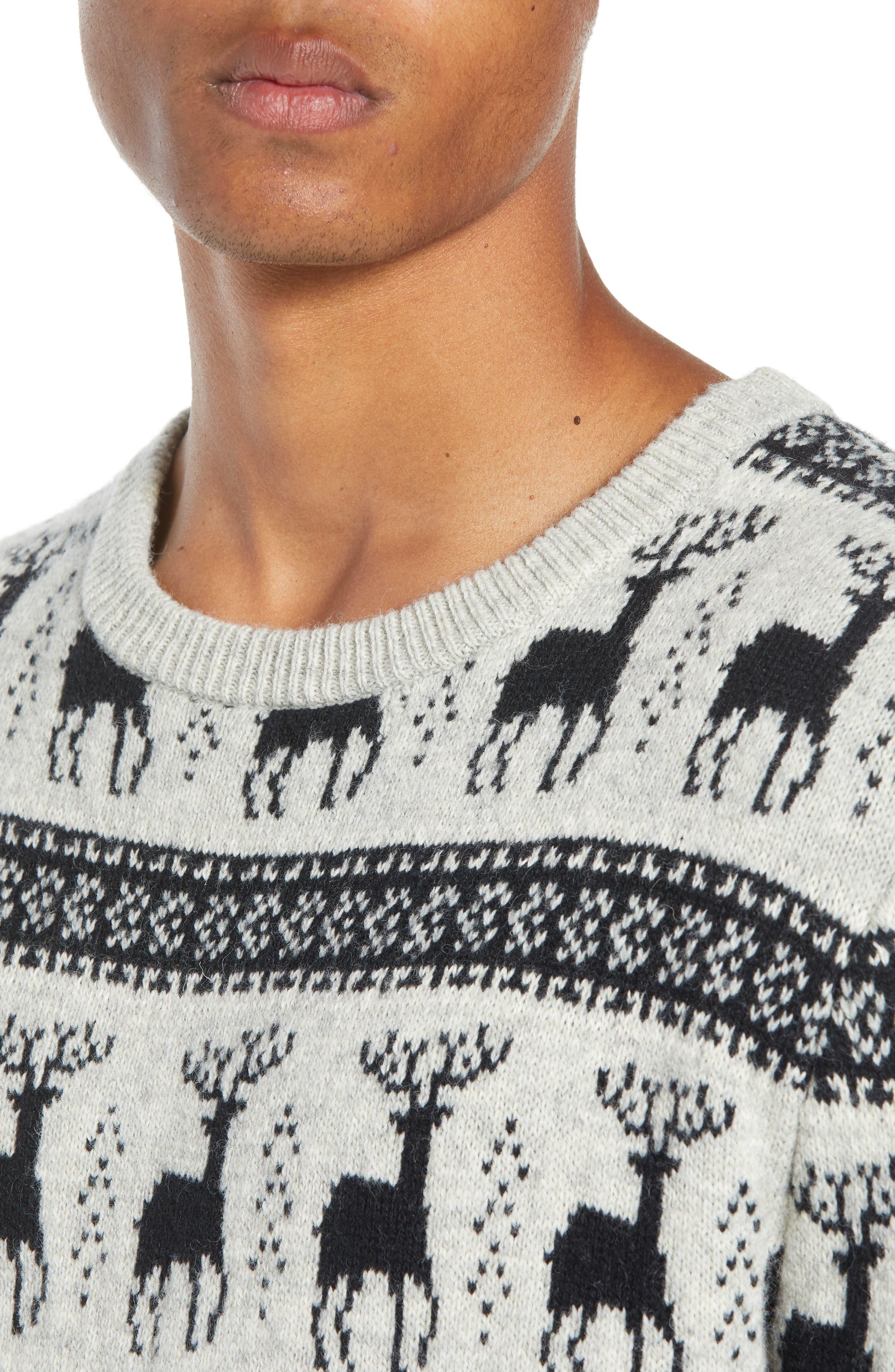 Cedar Slim Fit Crewneck Sweater,                             Alternate thumbnail 4, color,                             LIGHT HEATHER GREY