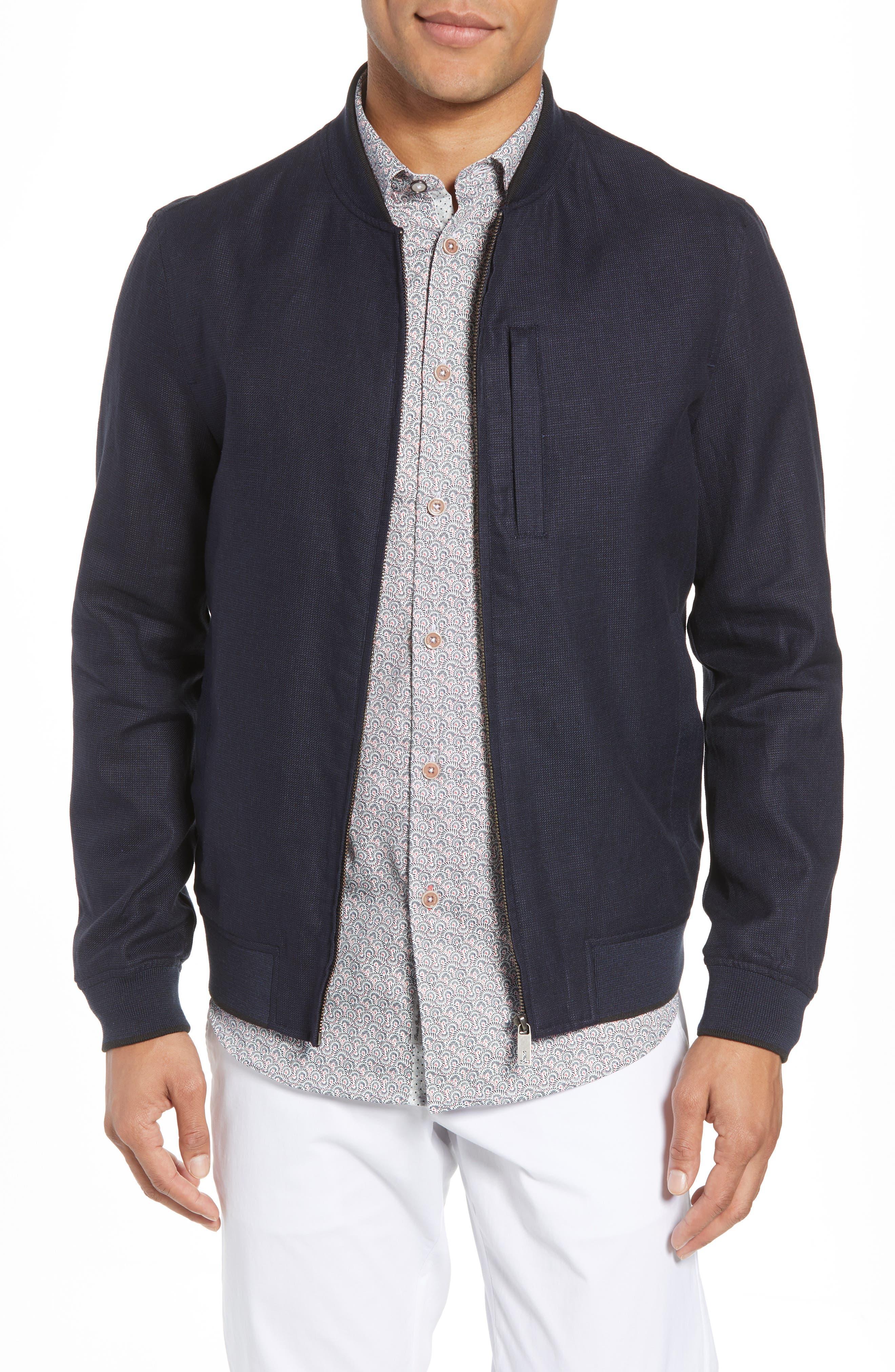 Raney Trim Fit Linen & Cotton Jacket,                             Main thumbnail 1, color,                             410